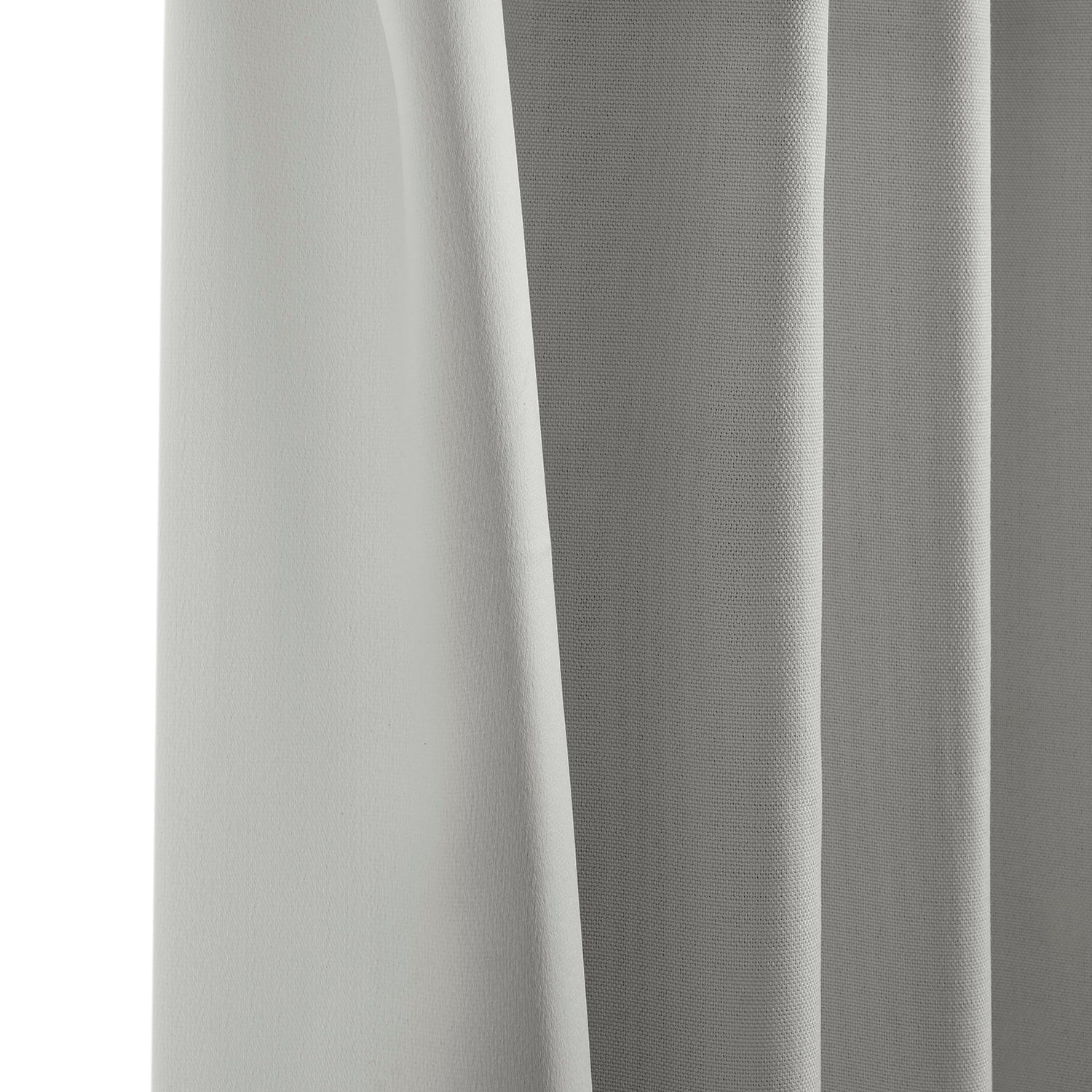 Oyster Faux Linen Blackout Room Darkening Curtain