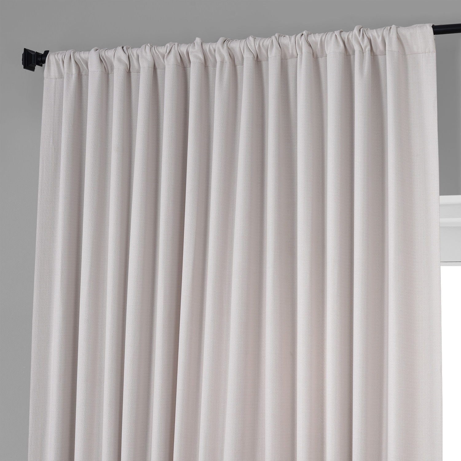 Birch Faux Linen Extra Wide Blackout Room Darkening Curtain