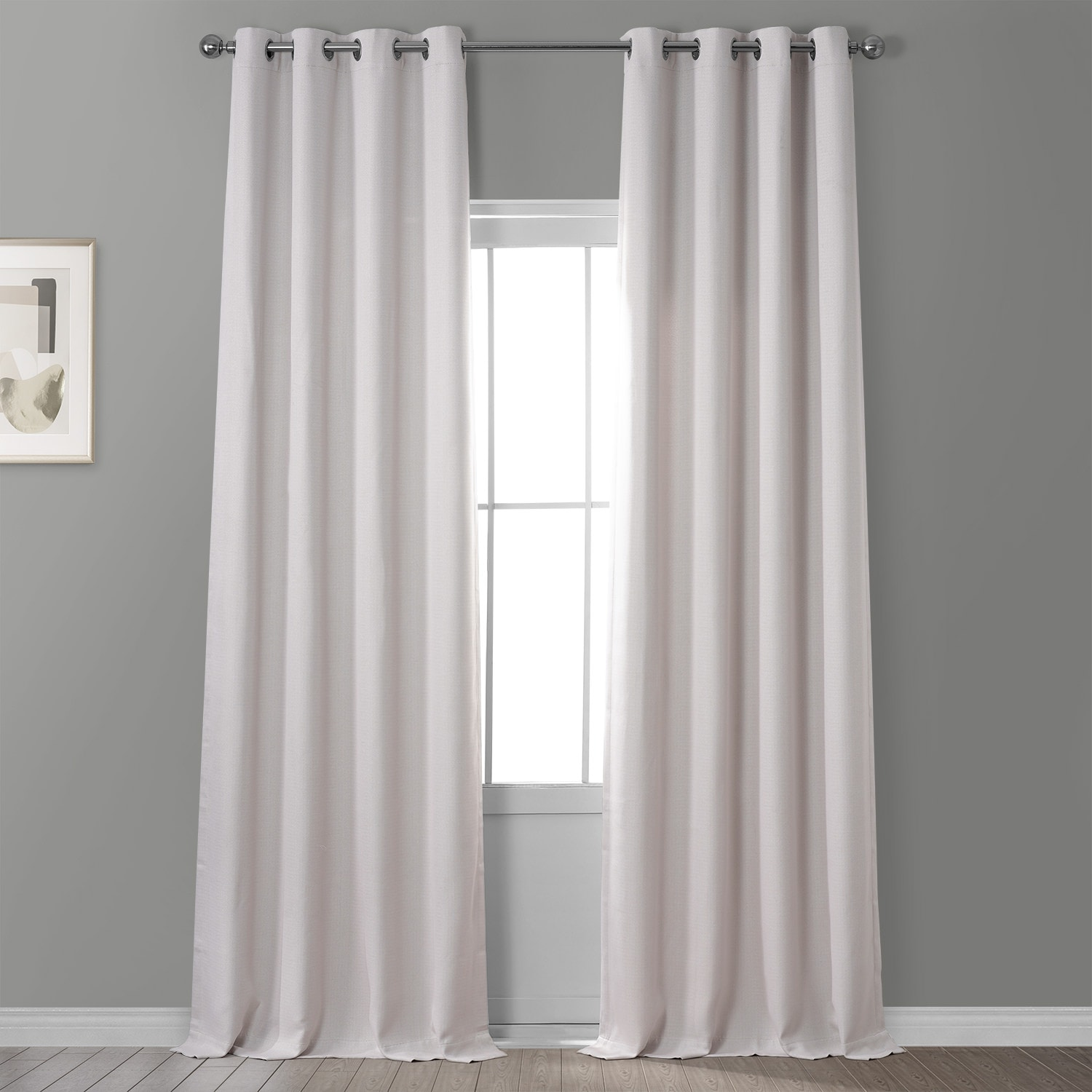 Birch Faux Linen Grommet Blackout Room Darkening Curtain