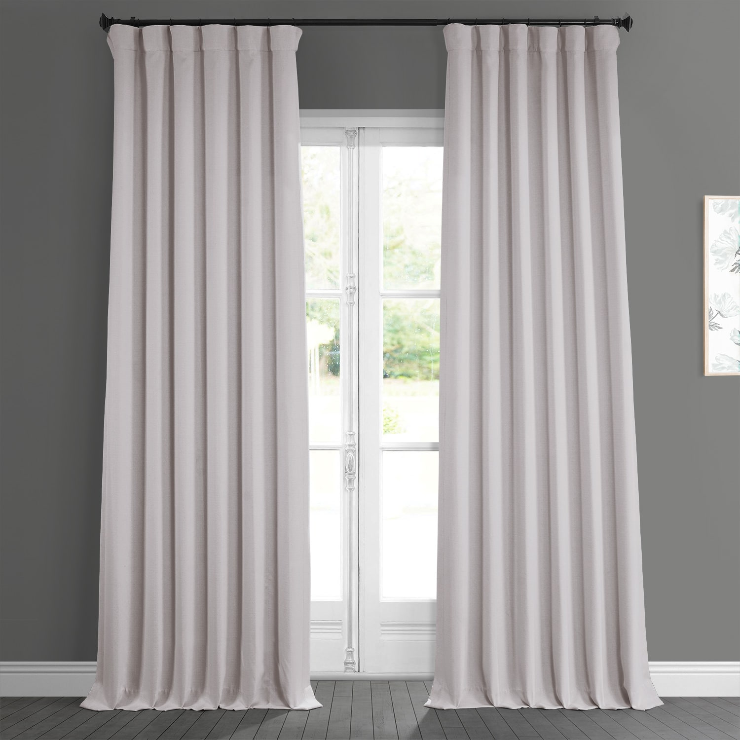 Birch Faux Linen Blackout Room Darkening Curtain