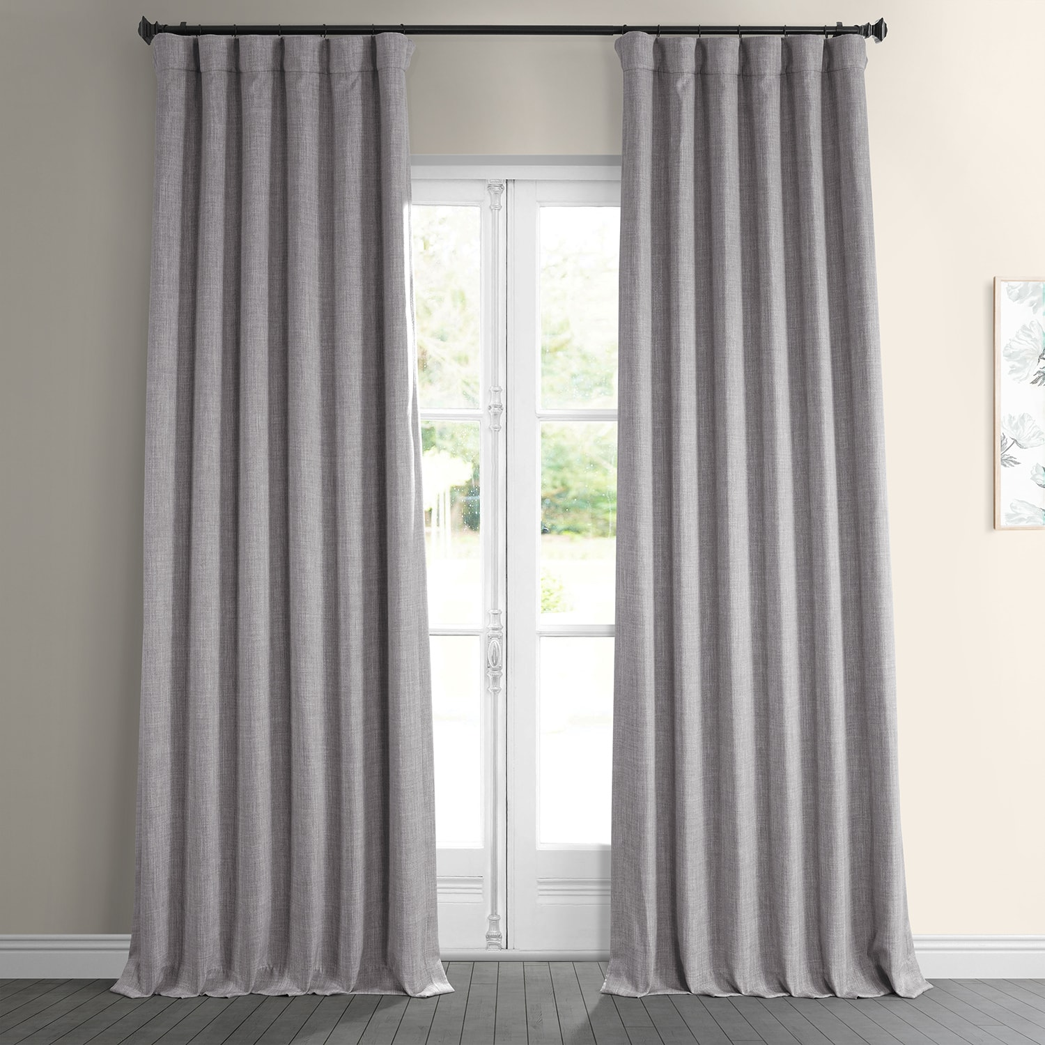 Clay Faux Linen Room Darkening Curtain