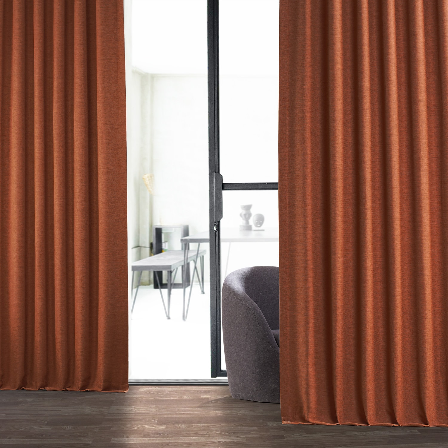 Persimmon Bellino Blackout Room Darkening Curtain