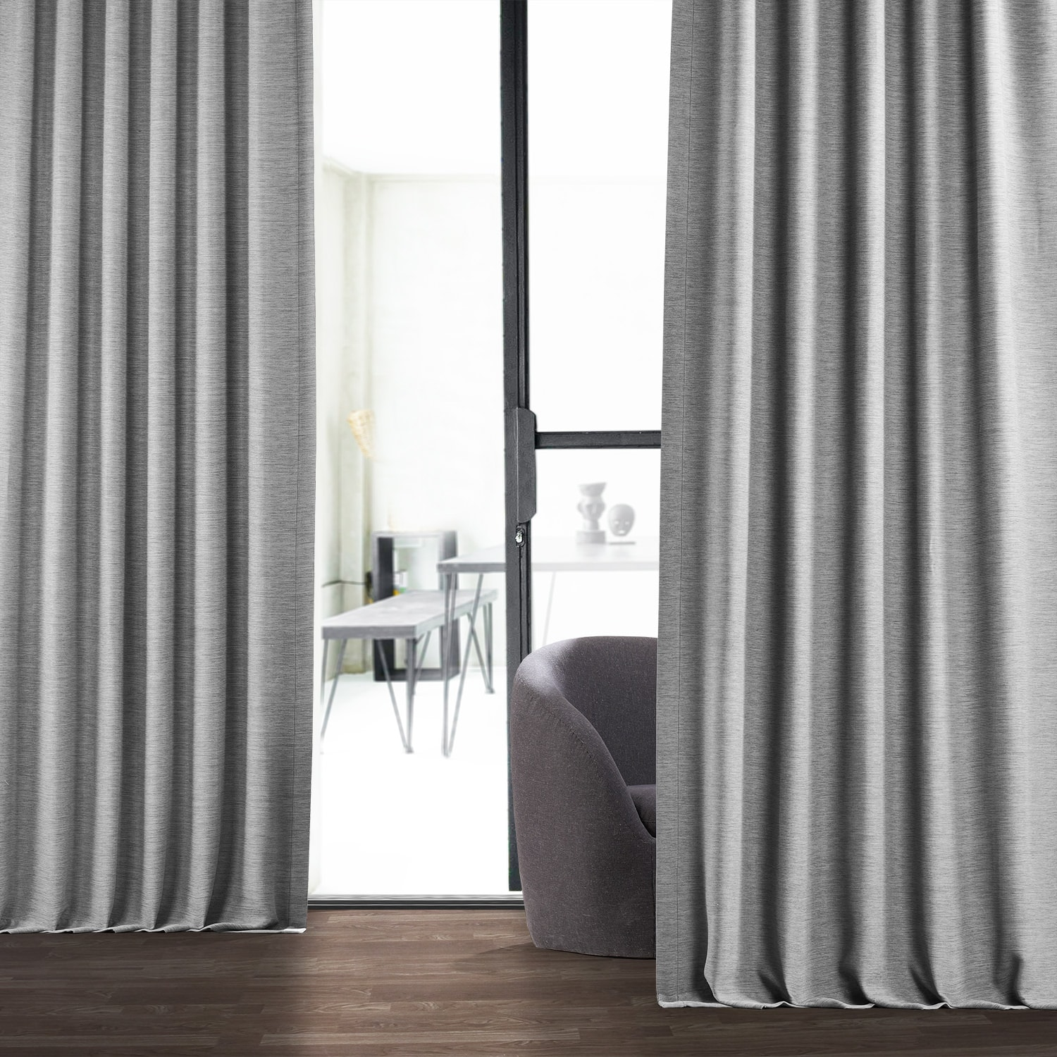 Vista Grey Bellino Blackout Room Darkening Curtain
