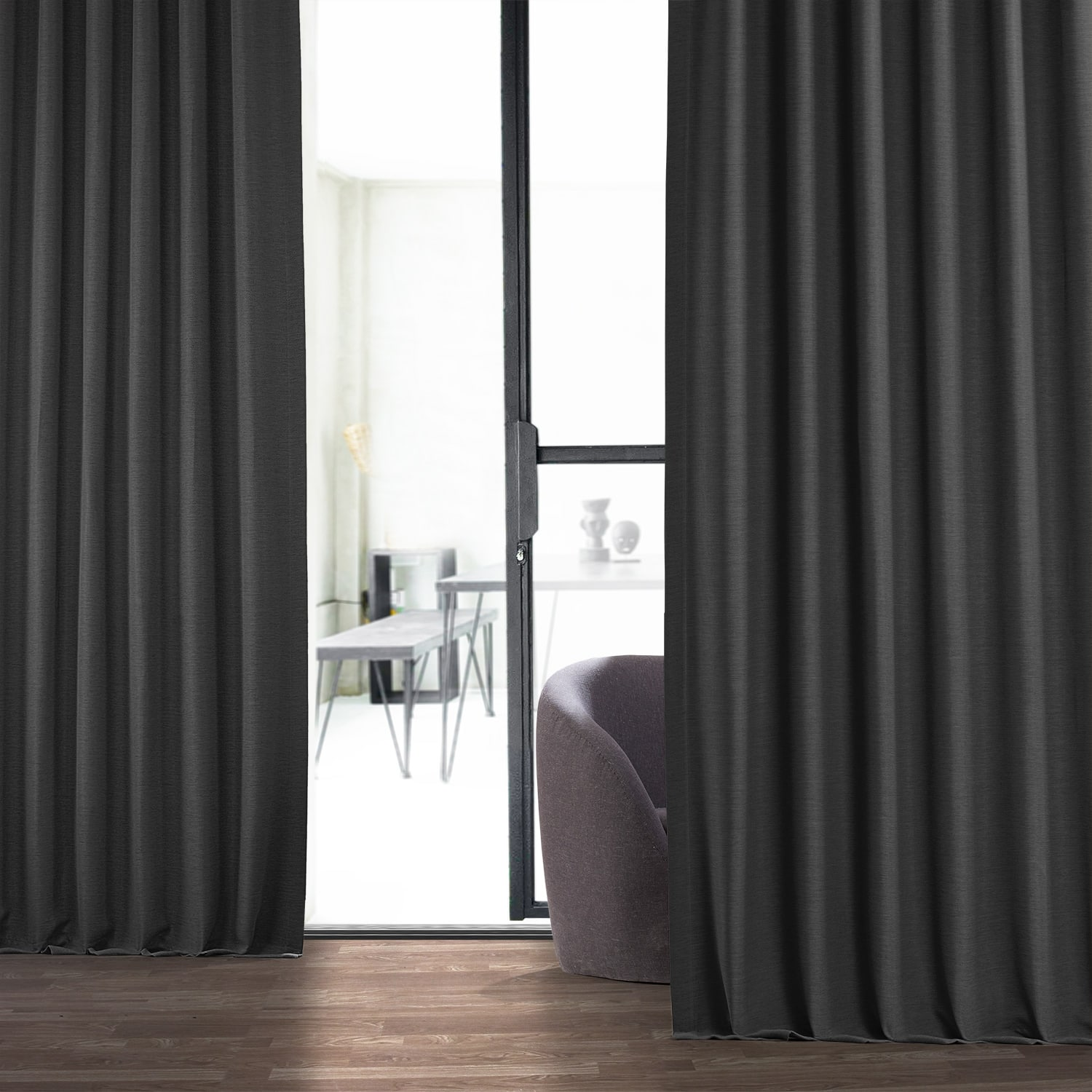 Smoked Truffle Bellino Blackout Curtains
