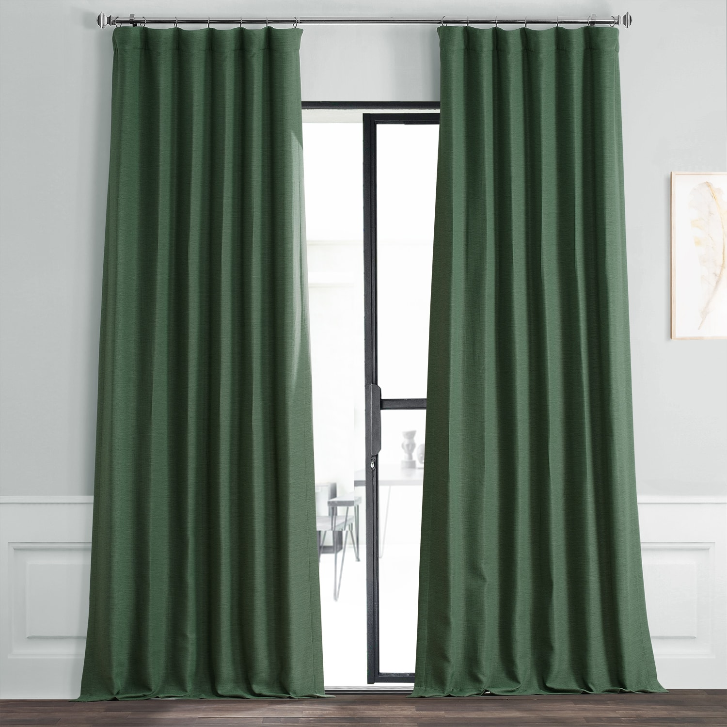 Pine Forest Green Bellino Blackout Room Darkening Curtain