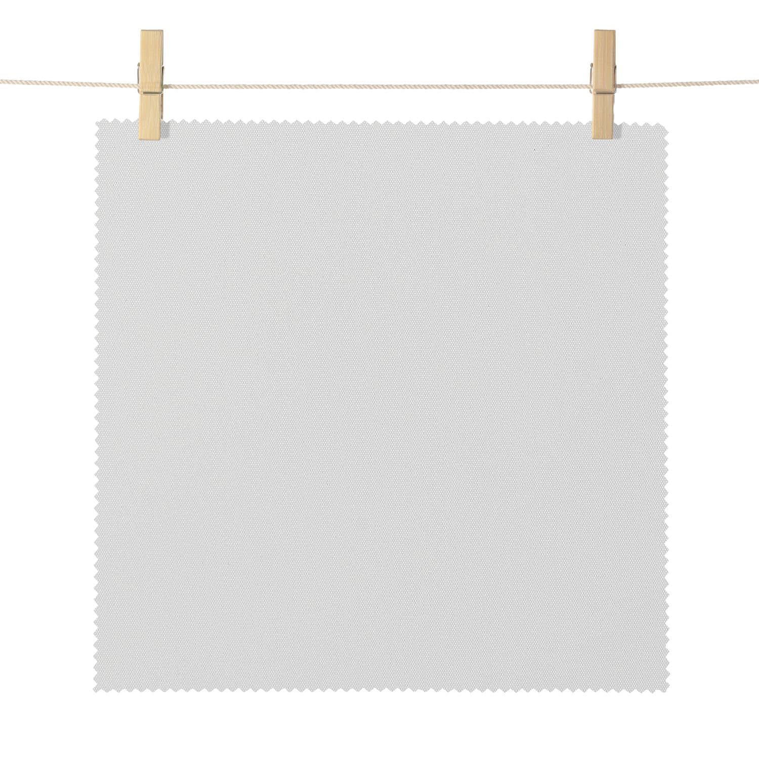Eureka Off White Broadcloth Textured Blackout Roller Shade Swatch