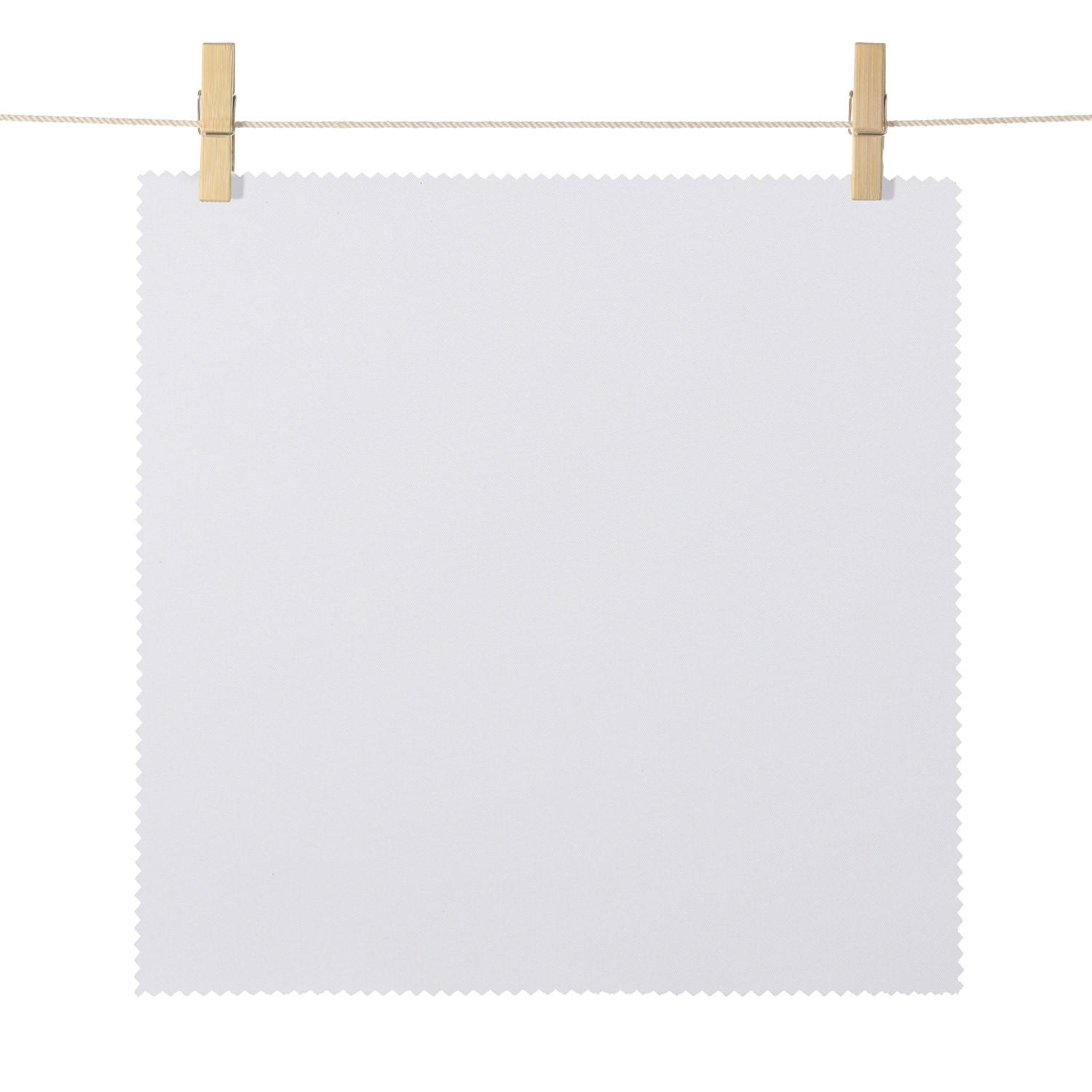 Mendocino White Broadcloth Textured Blackout Roller Shade Swatch