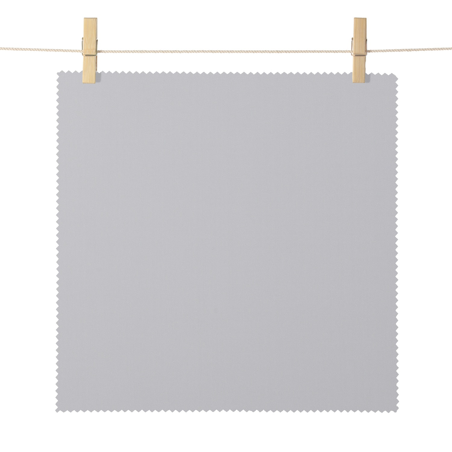 Mendocino Silver Broadcloth Textured Blackout Roller Shade Swatch