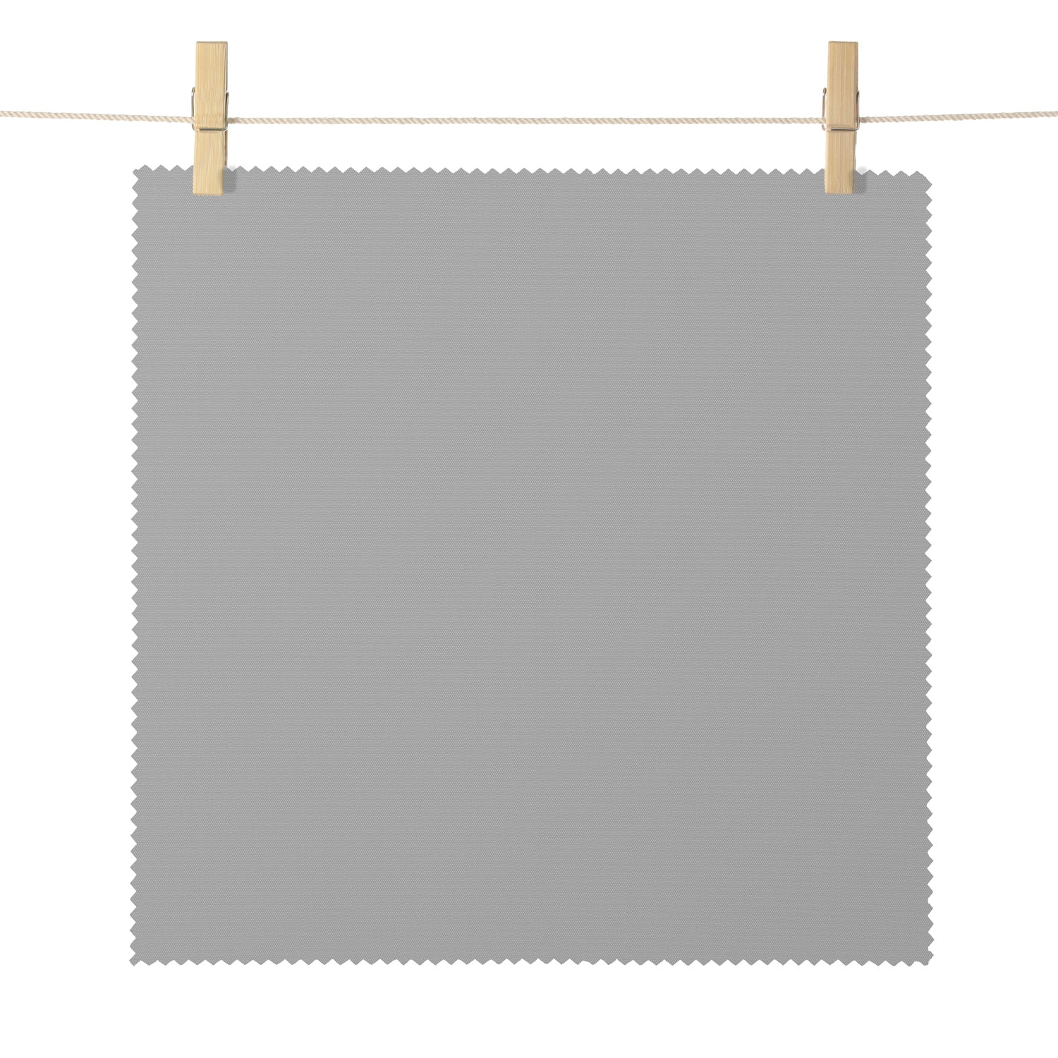 Mendocino Grey Broadcloth Textured Blackout Roller Shade Swatch