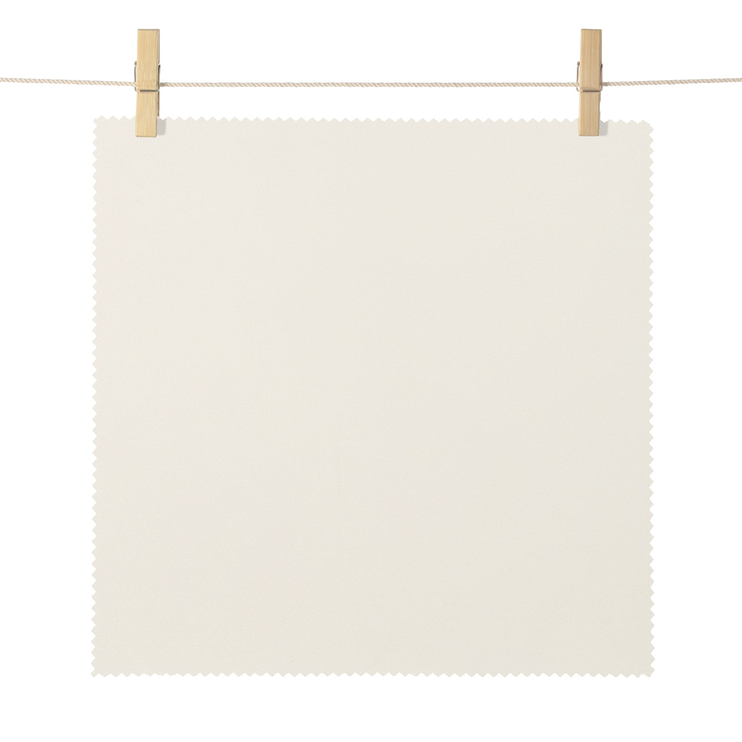Mendocino Ivory Broadcloth Textured Blackout Roller Shade Swatch