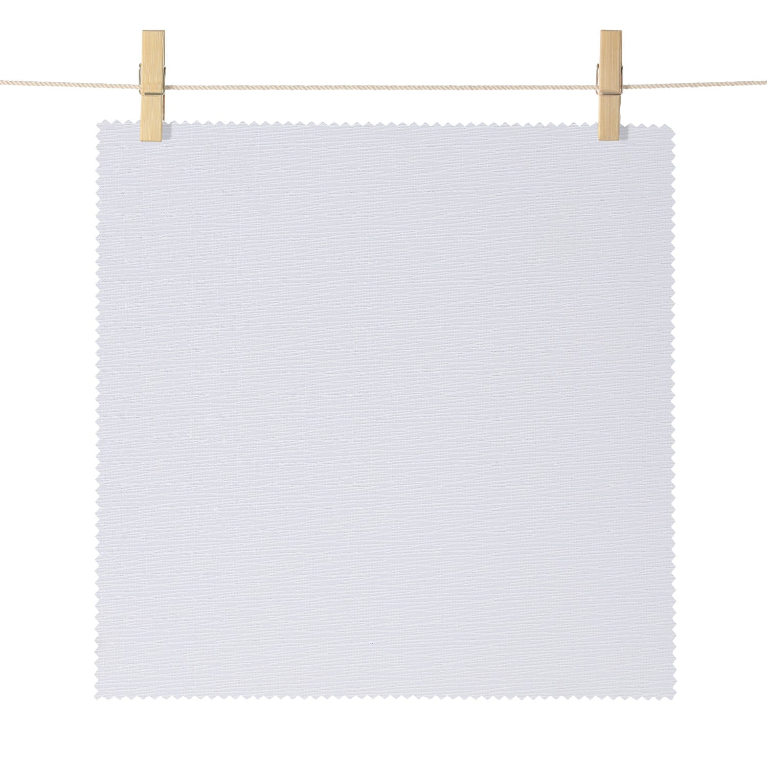 Dunsmuir White Boucle Textured Blackout Roller Shade Swatch