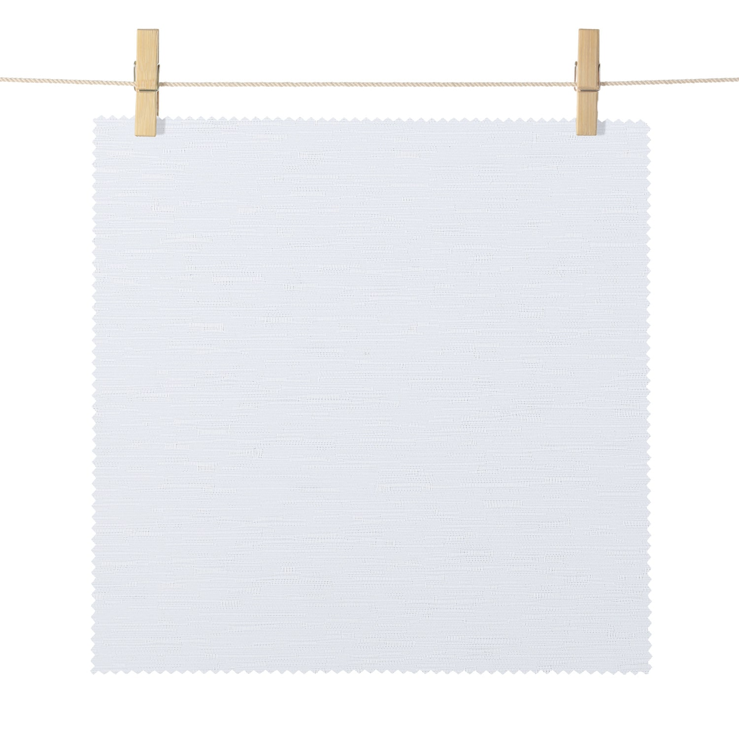 Klamath White Dobby Textured Blackout Roller Shade Swatch