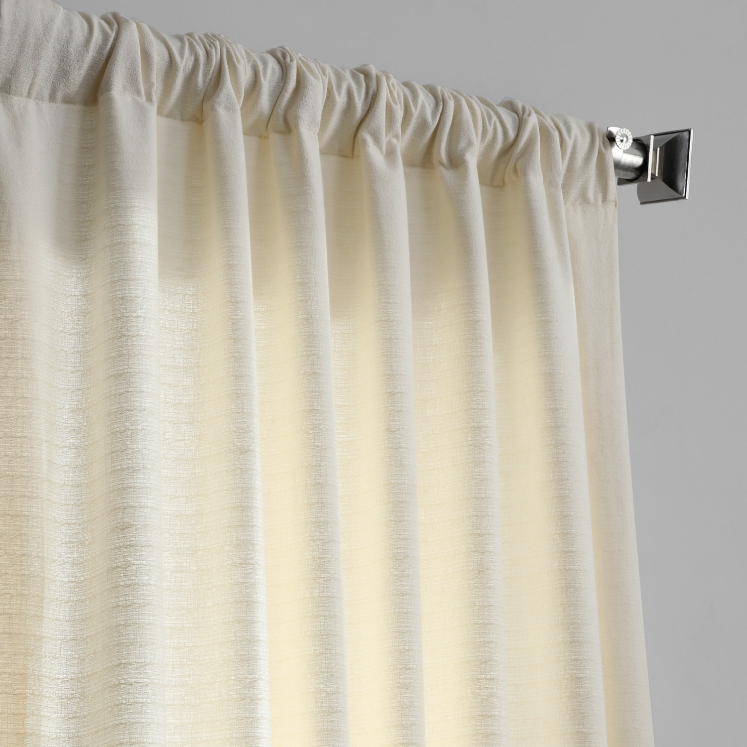Pale Ivory Cotton Textured BarkWeave Curtain