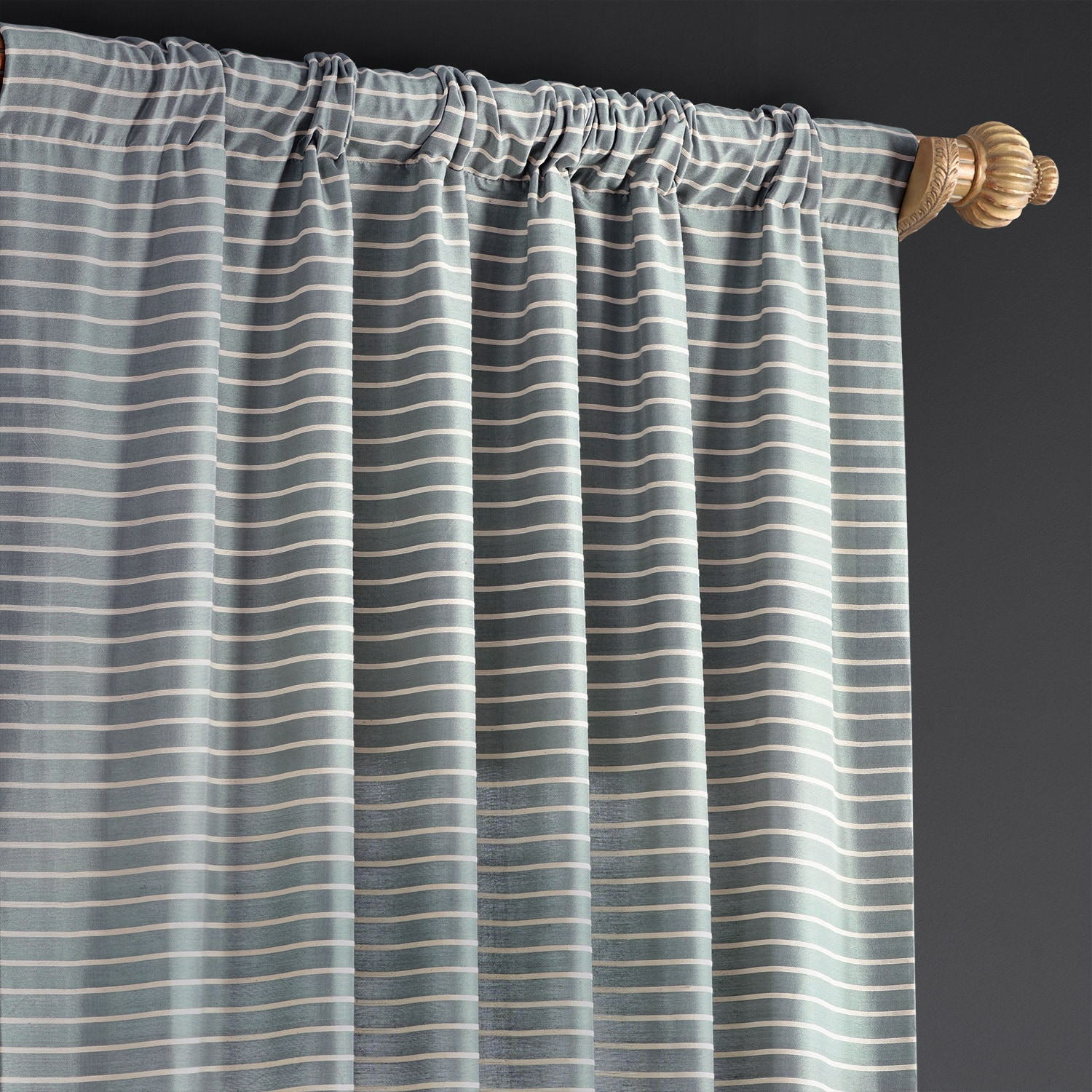 Weekend Blue Hand Weaved Cotton Curtain