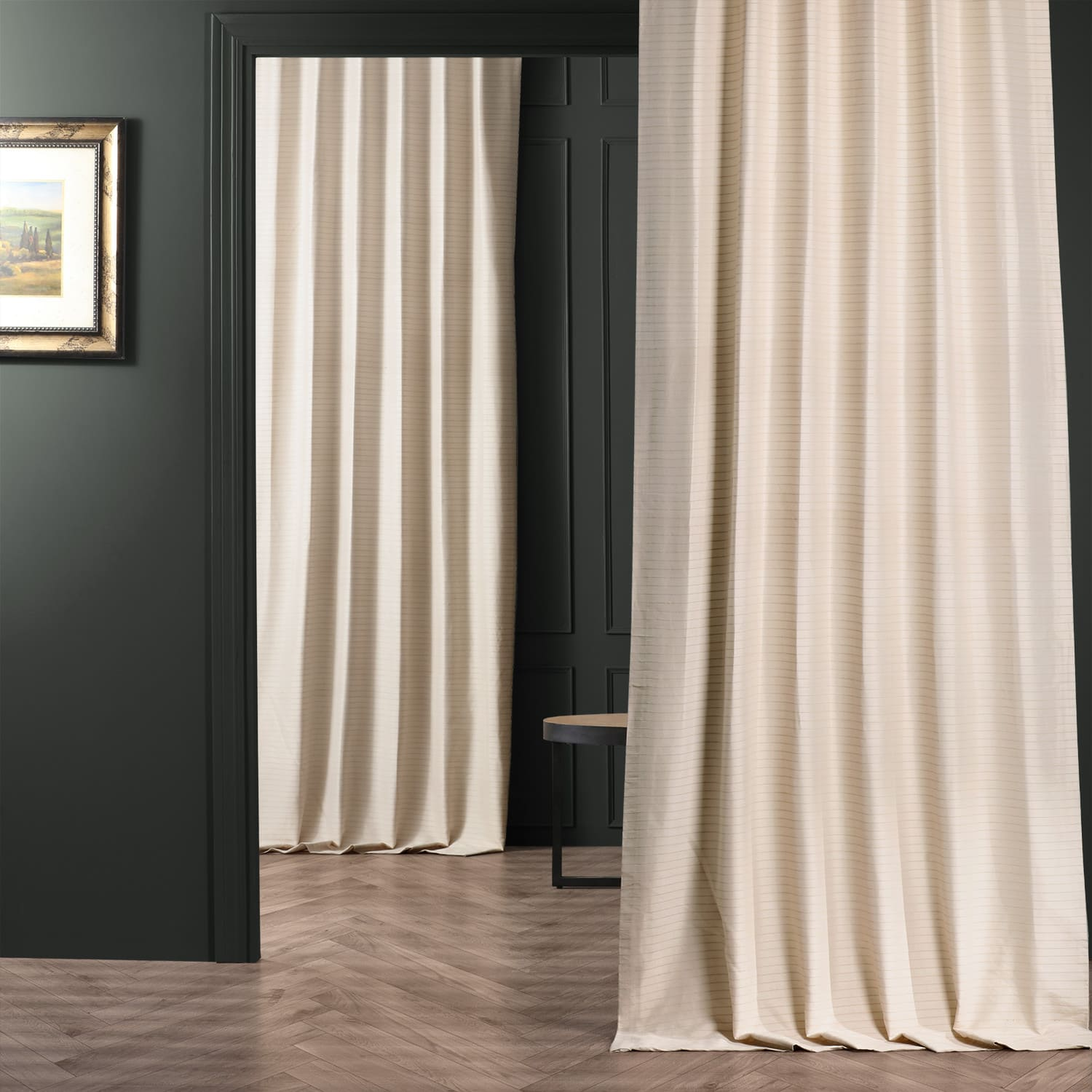 Champagne Beige Hand Weaved Cotton Curtain