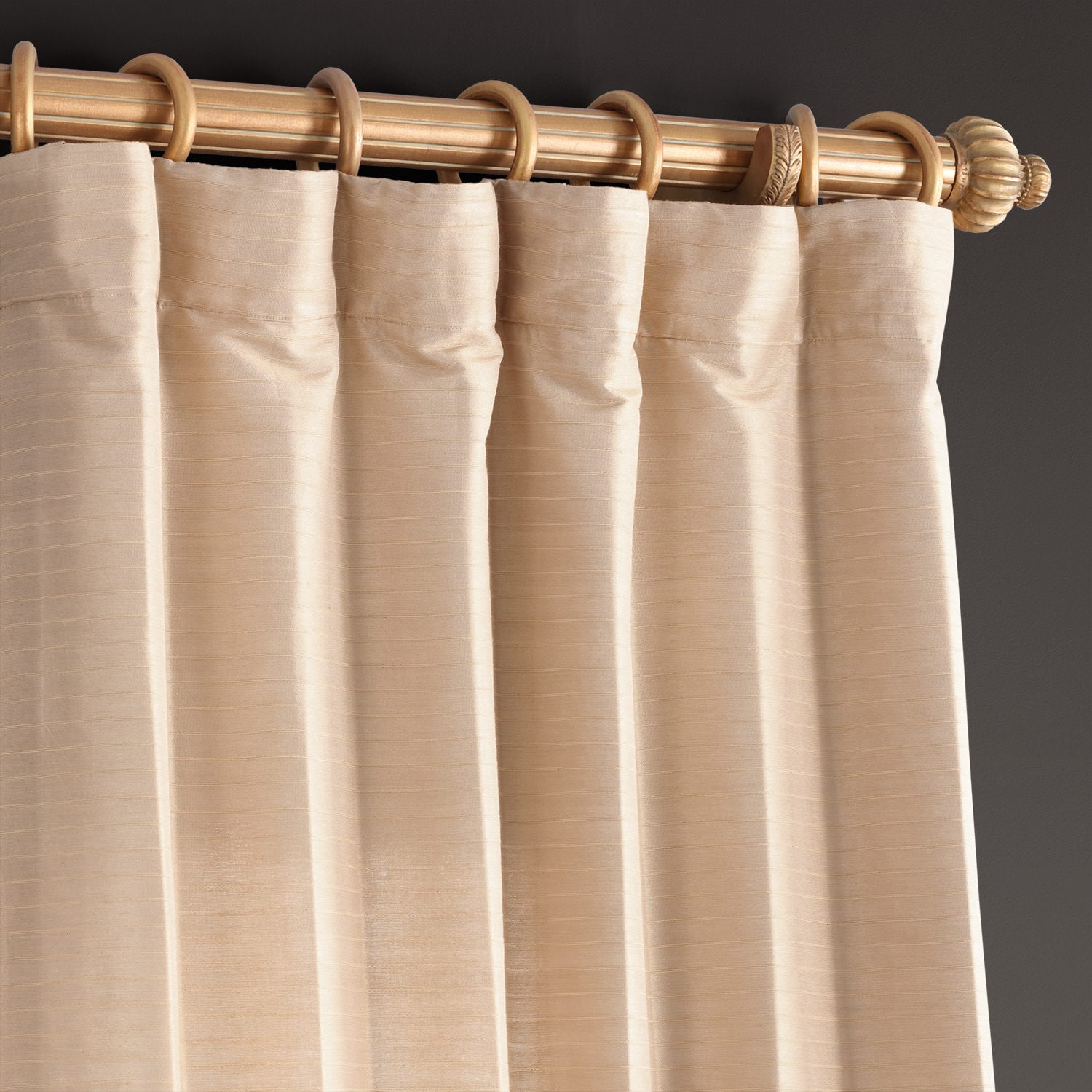 Sandcastle Tan Hand Weaved Cotton Curtain