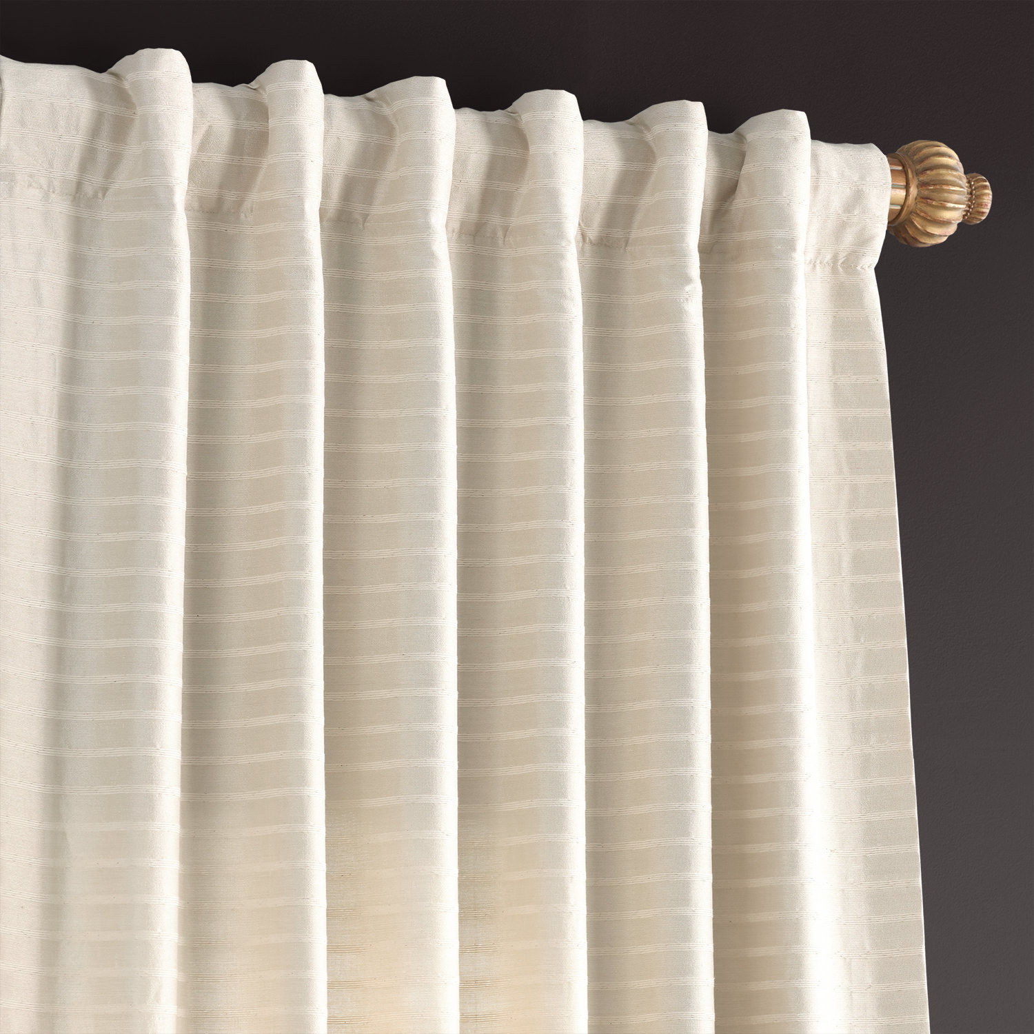 Ultimate Ivory Hand Weaved Cotton Curtain