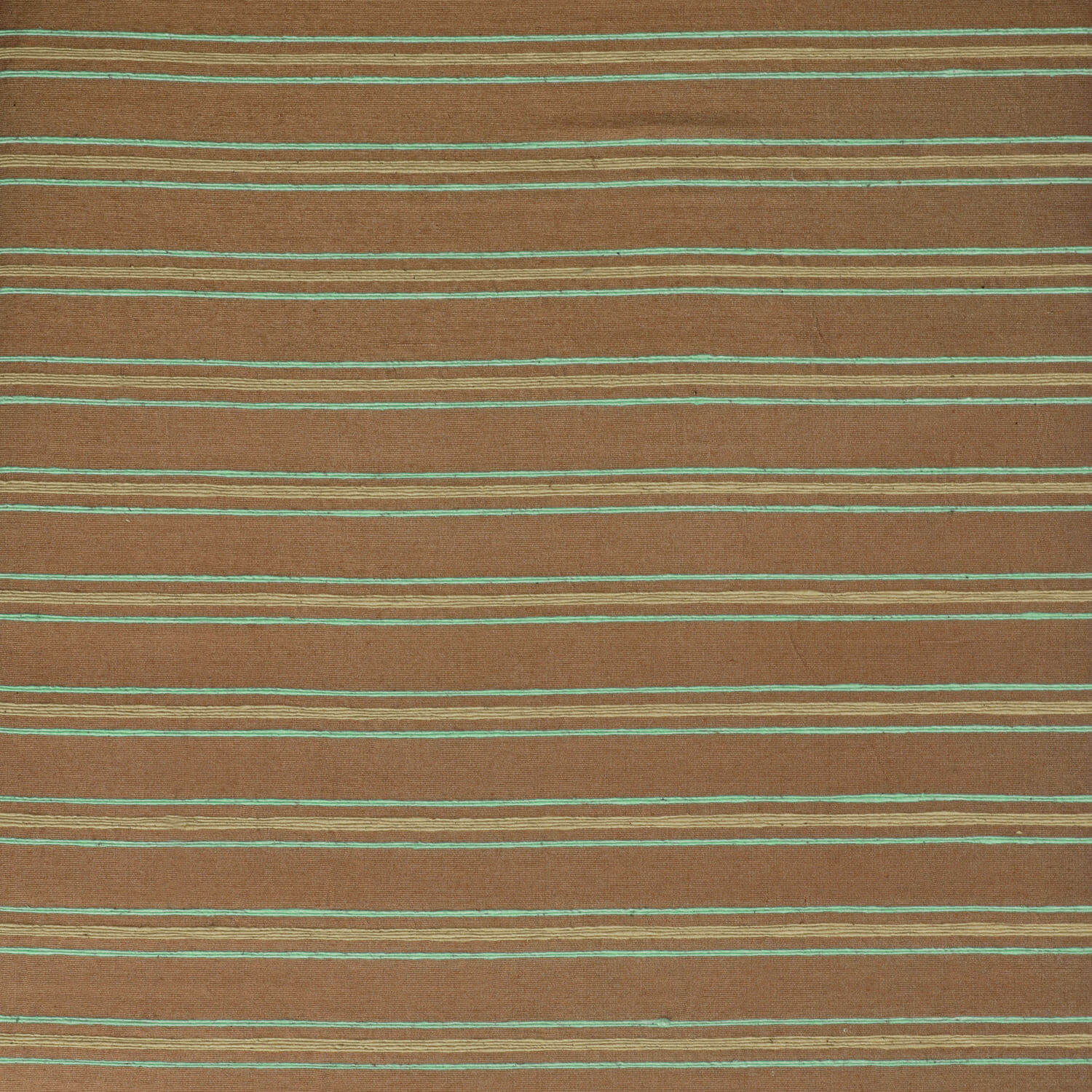 Mocha And Teal Casual Cotton Fabric