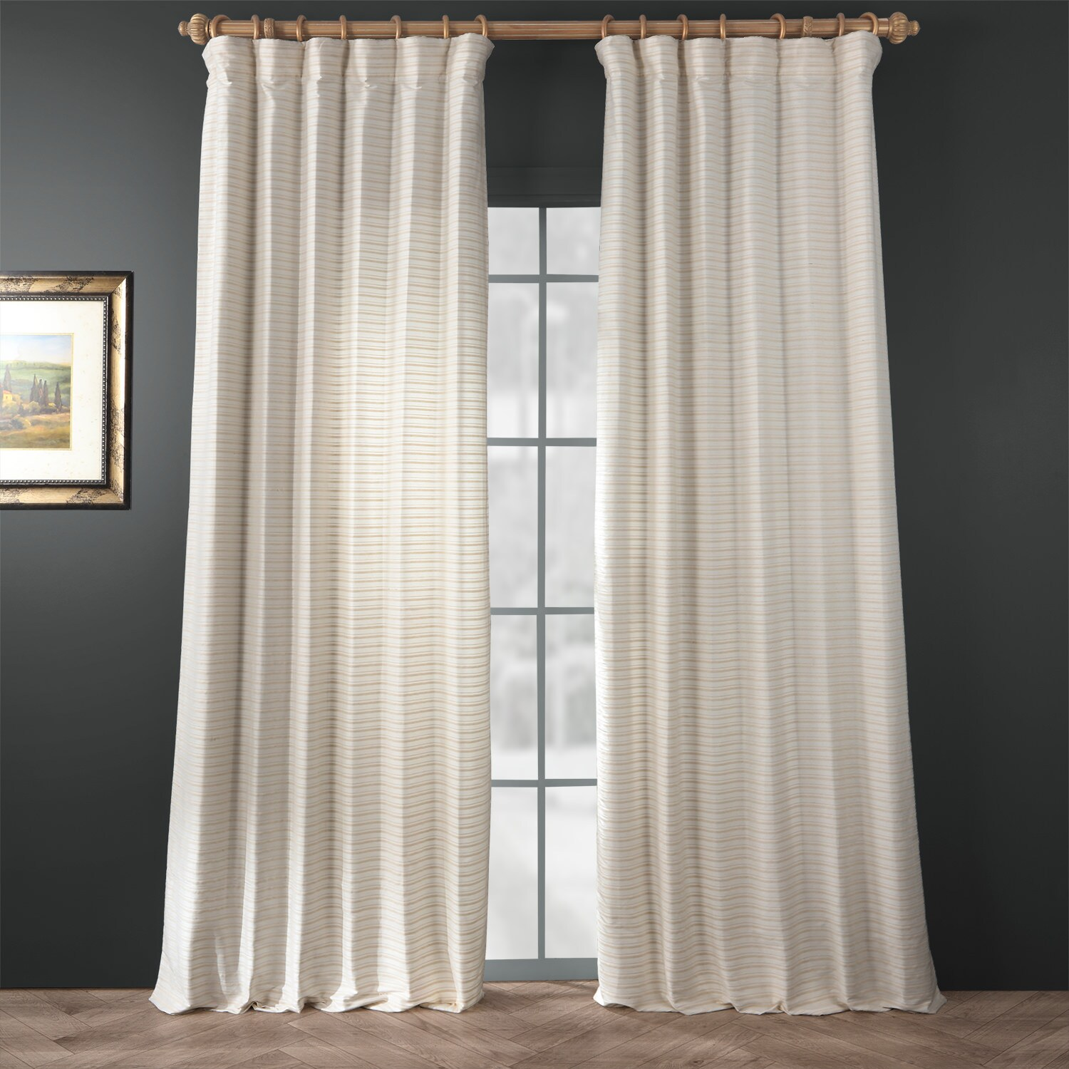 Whipped Cream Hand Weaved Cotton Curtain