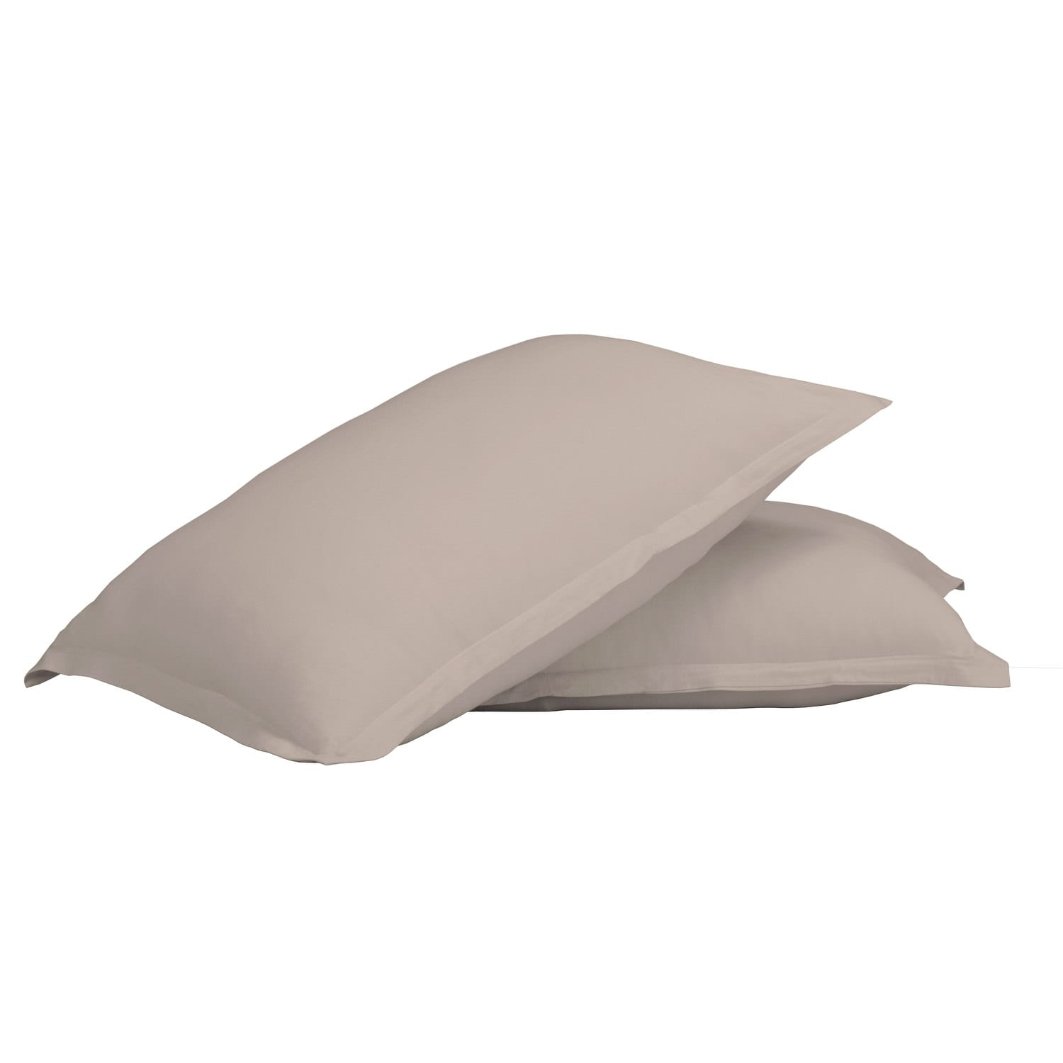 100% Premium Combed Cotton Jersey Beige Fitted Pillow Case Set With Aloe Vera Treatment