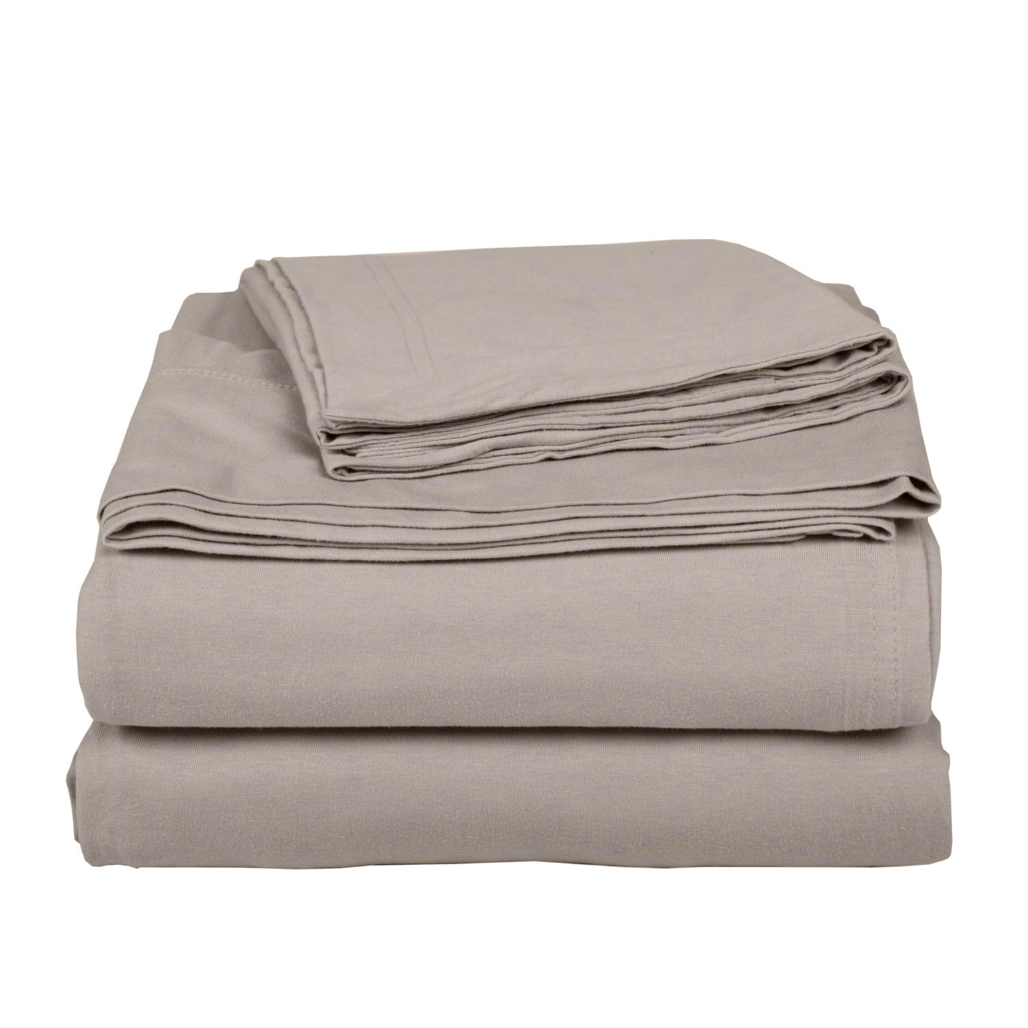 Cotton Beige Bed Sheet Set
