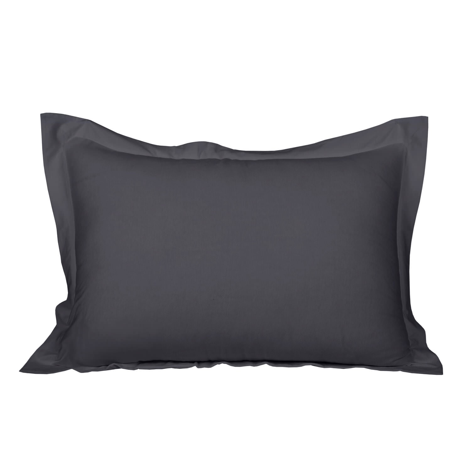 100% Premium Combed Cotton Jersey Dark Grey Fitted Pillow Case Set With Aloe Vera Treatment