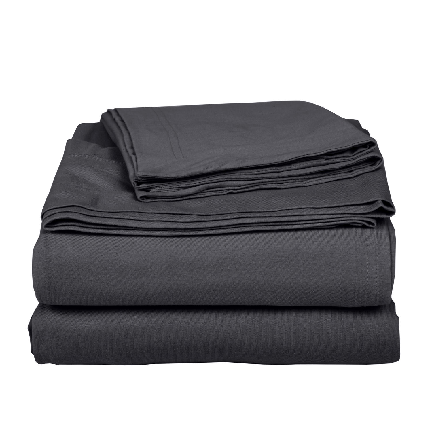 Cotton Dark Grey Bed Sheet Set