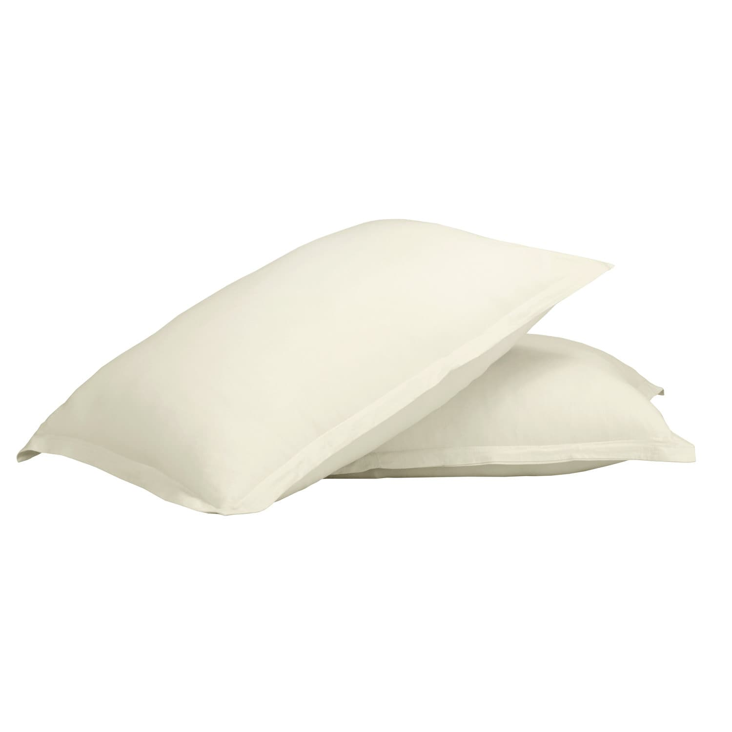 100% Premium Combed Cotton Jersey Ivory Fitted Pillow Case Set With Aloe Vera Treatment