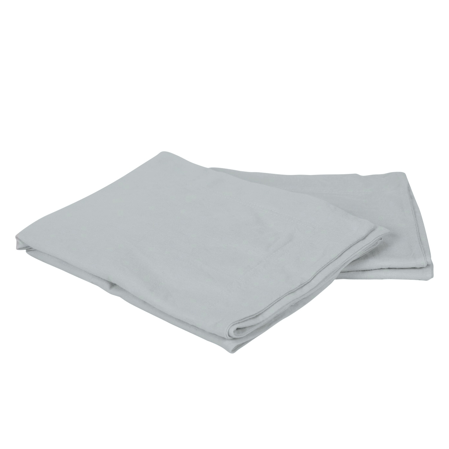 100% Premium Combed Cotton Jersey Silver Fitted Pillow Case Set With Aloe Vera Treatment