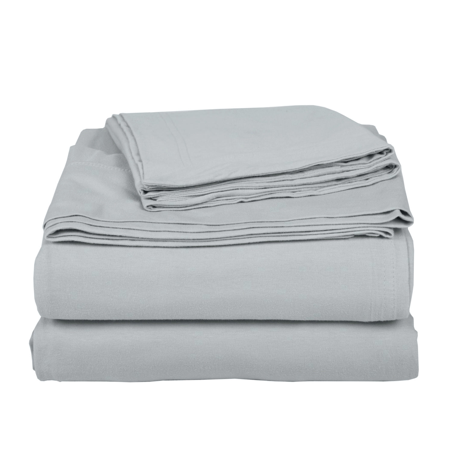 Cotton Silver Bed Sheet Set
