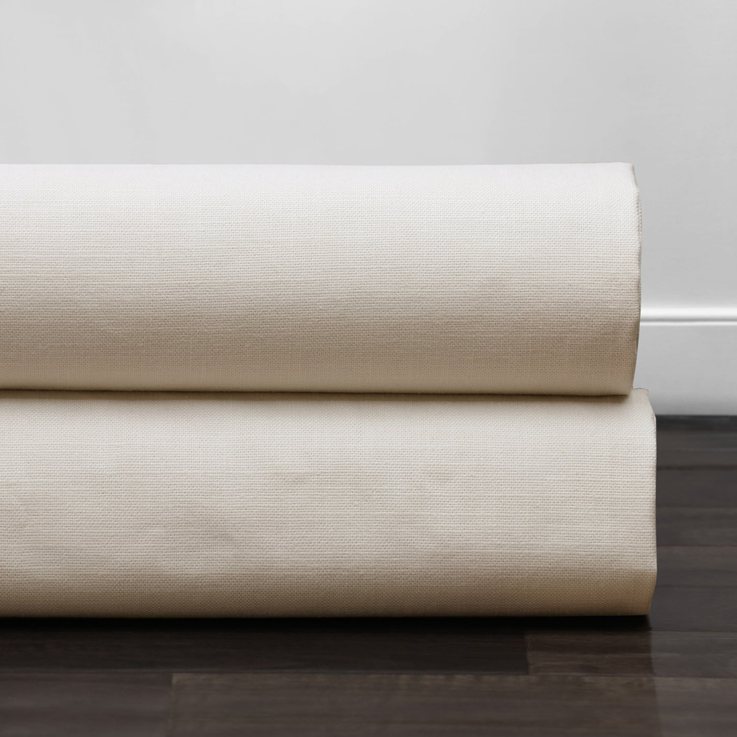 Natural Cream Cotton Textural LinenWeave Grommet Curtain