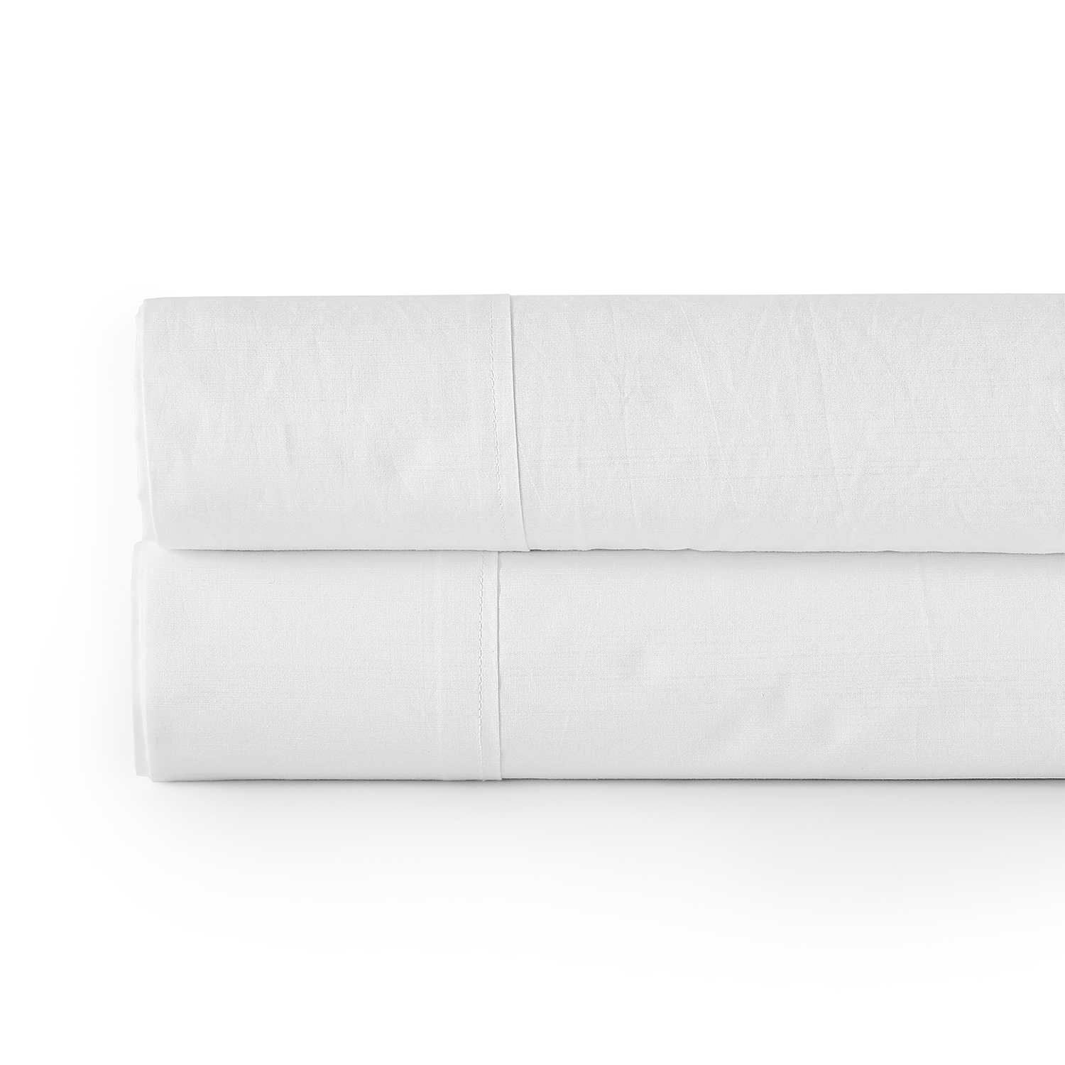Flat Textured 100% Cotton Percale Solid Optic White  Sheet