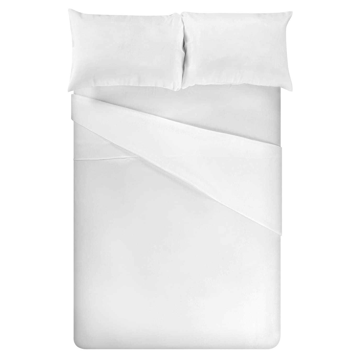 Fitted Textured 100% Cotton Percale Solid Optic White Sheet