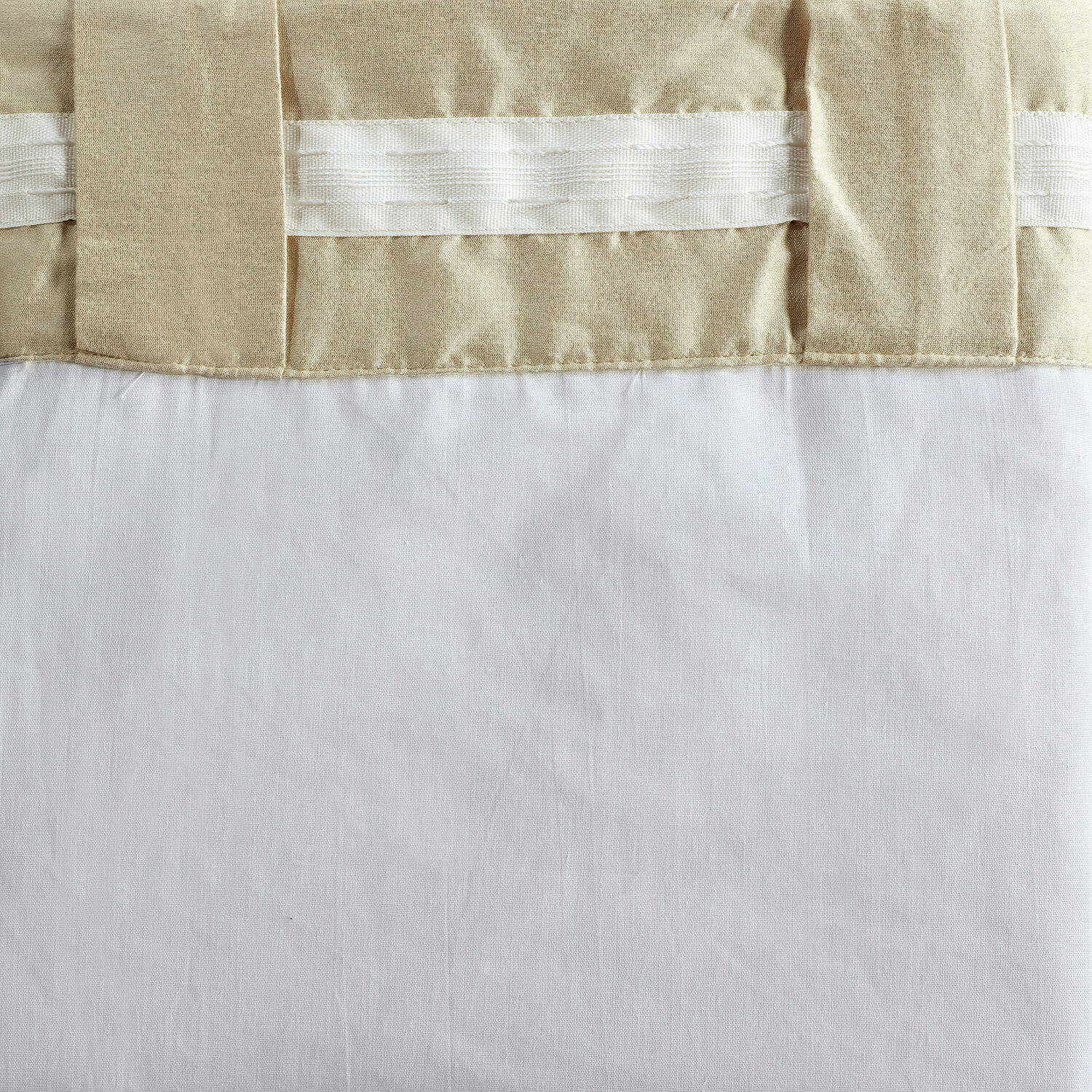 Buff Cotton Silk Curtain