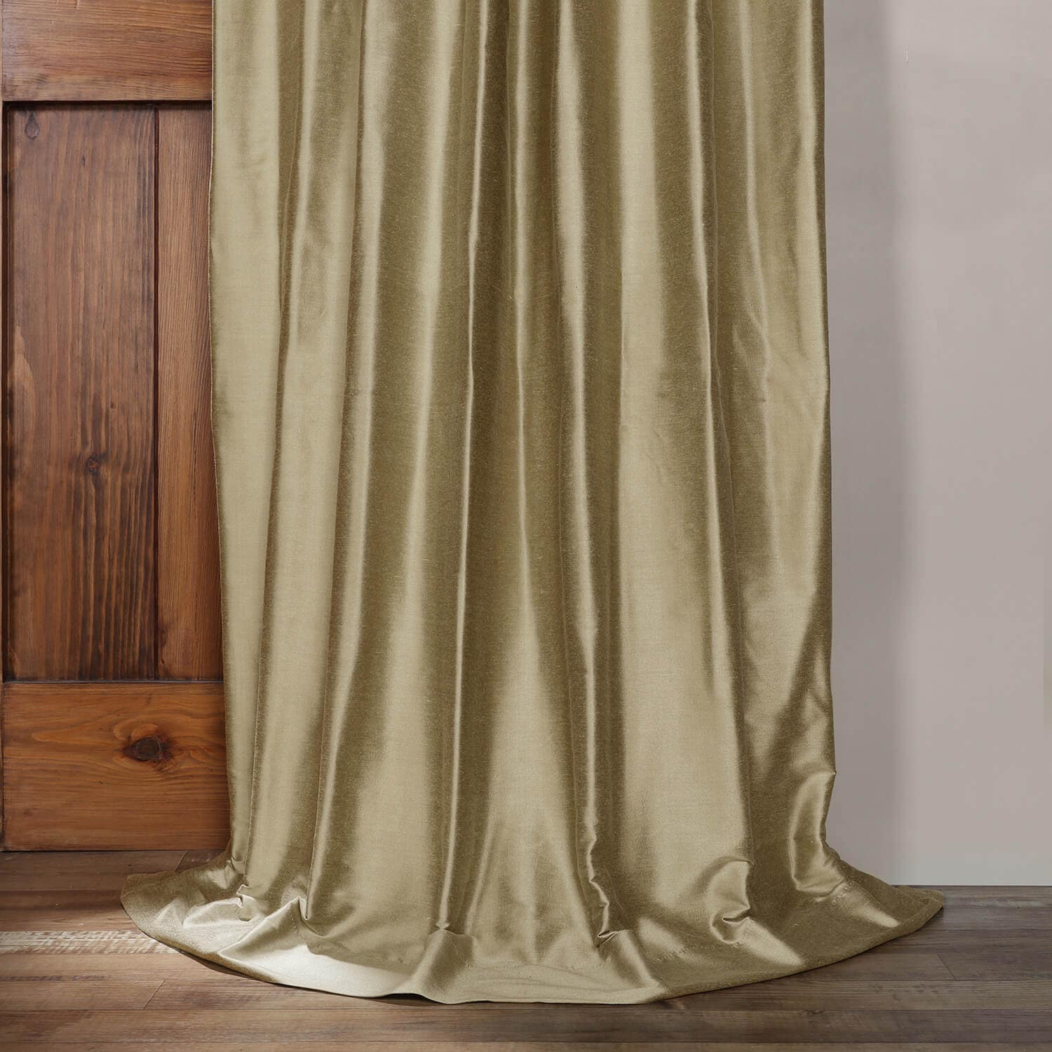 Stardust Silver Cotton Silk Curtain