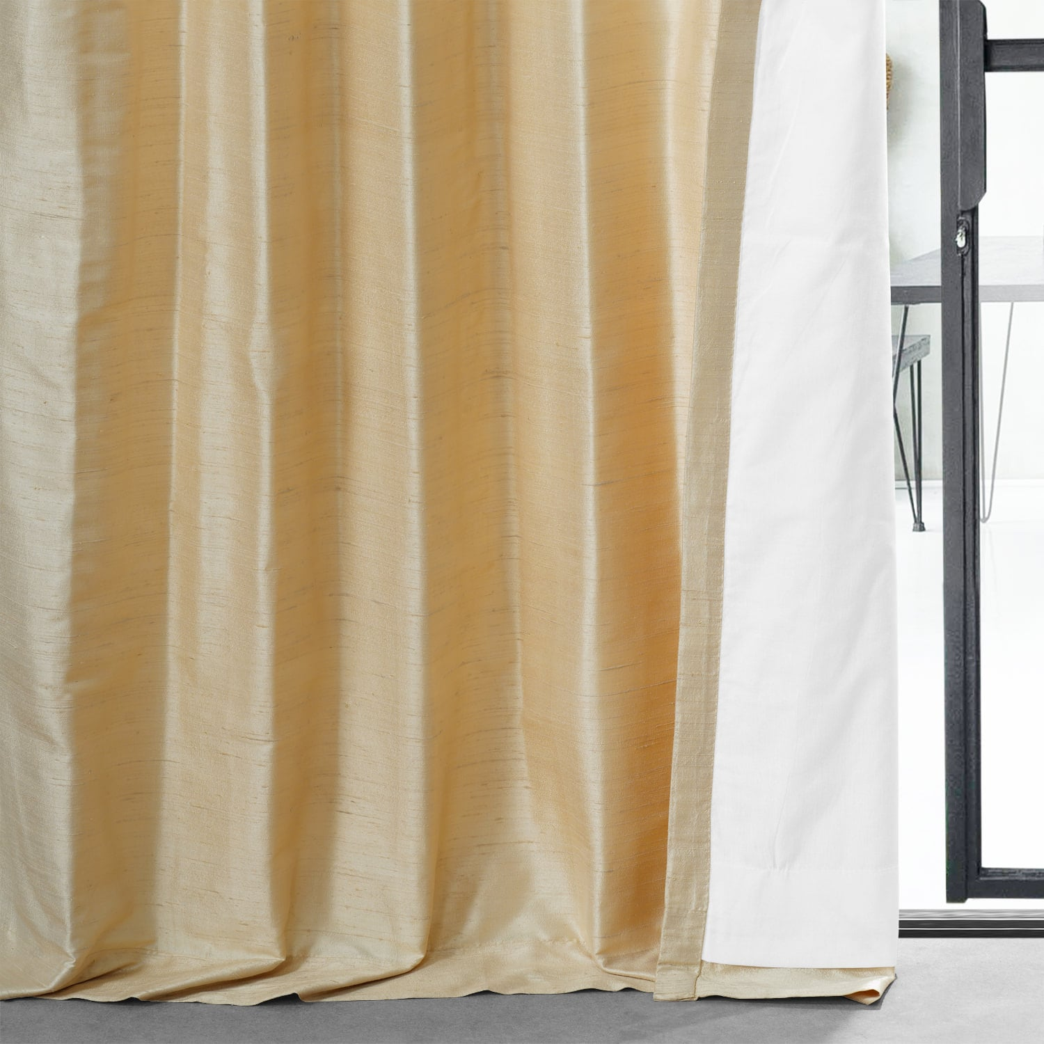 Sunlit Meadow Textured Dupioni Silk Curtain