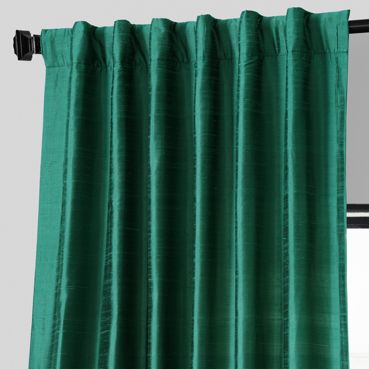 Carnival Green Textured Dupioni Silk Curtain