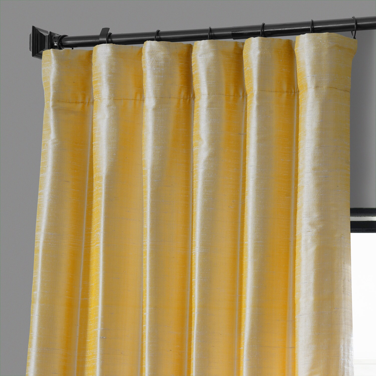 Honey Gold Textured Dupioni Silk Curtain