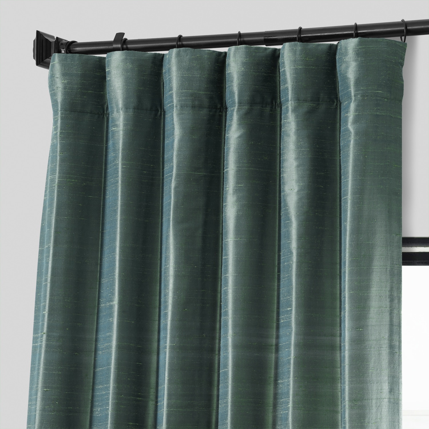 Sea Spray Textured Dupioni Silk Curtain