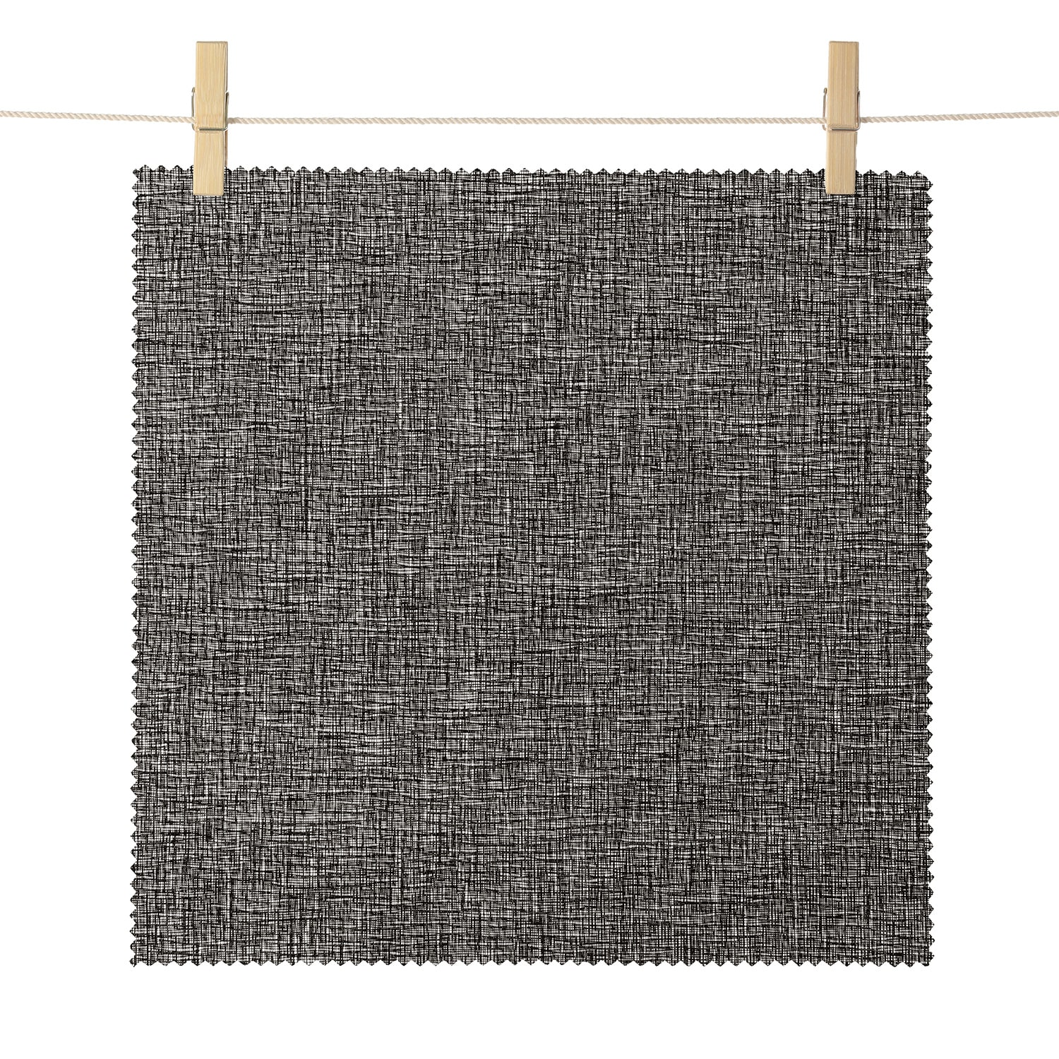 Pasadena Charcoal LenoWeave Textured Semi Sheer Roller Shade Swatch
