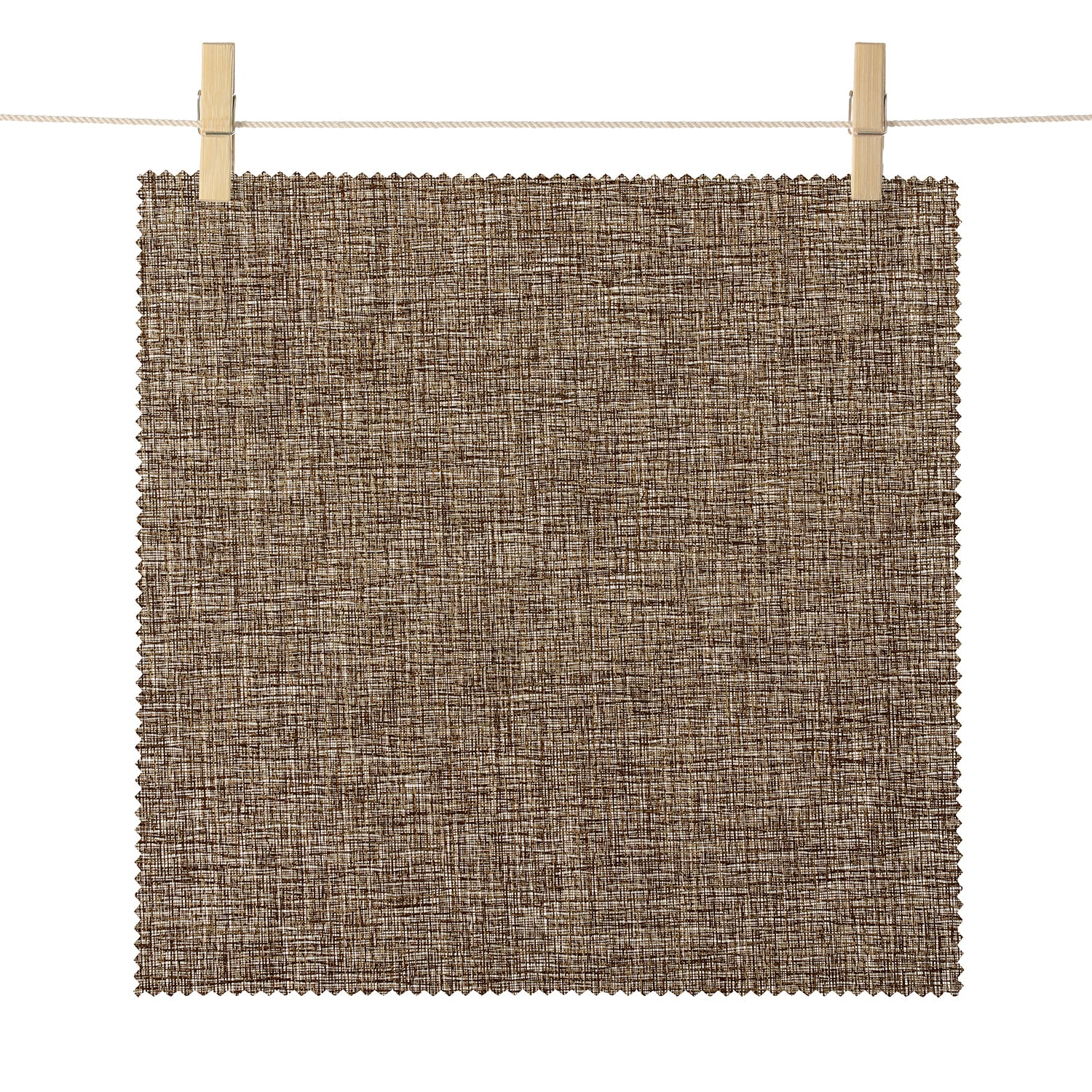 Pasadena Brown LenoWeave Textured Semi Sheer Roller Shade Swatch