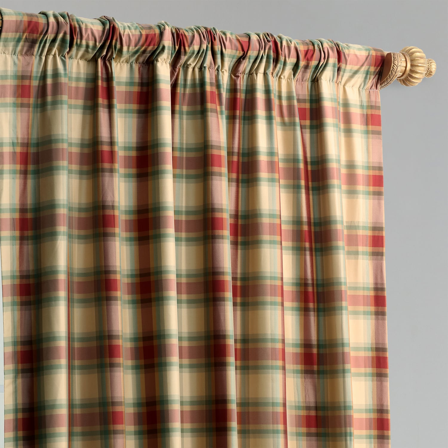 Warrington Plaid Silk Curtain