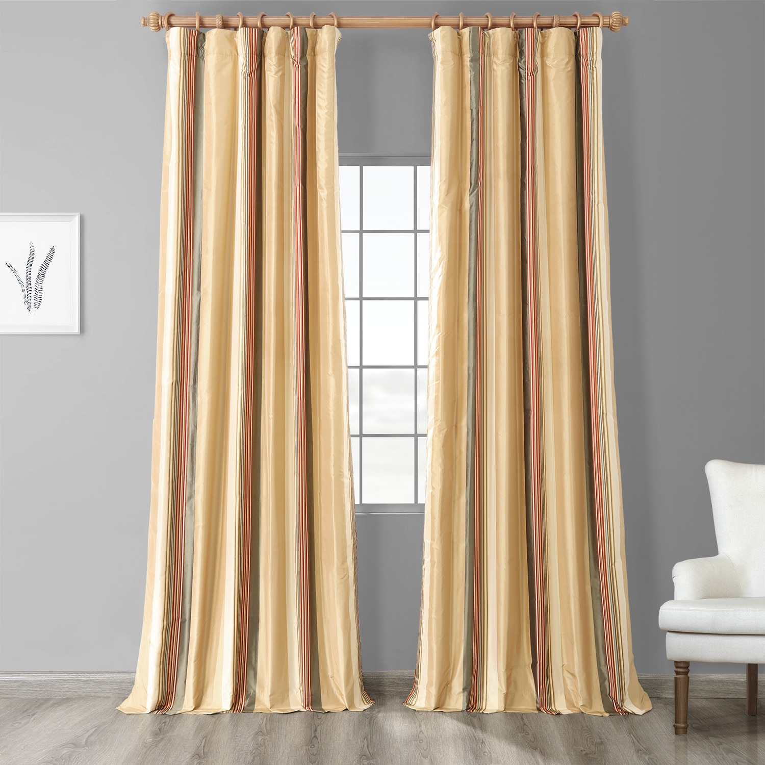 Bradford Stripe Silk Curtain