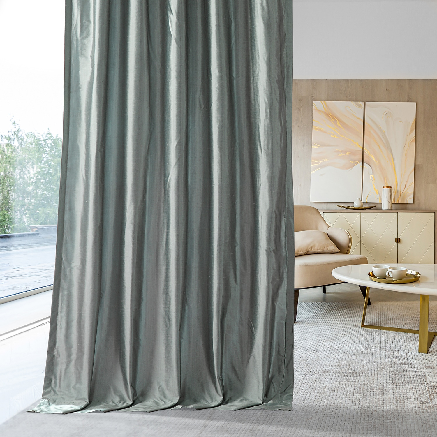 blue and gray curtains Blue Grey Curtains Silk | Half Price Drapes blue and gray curtains