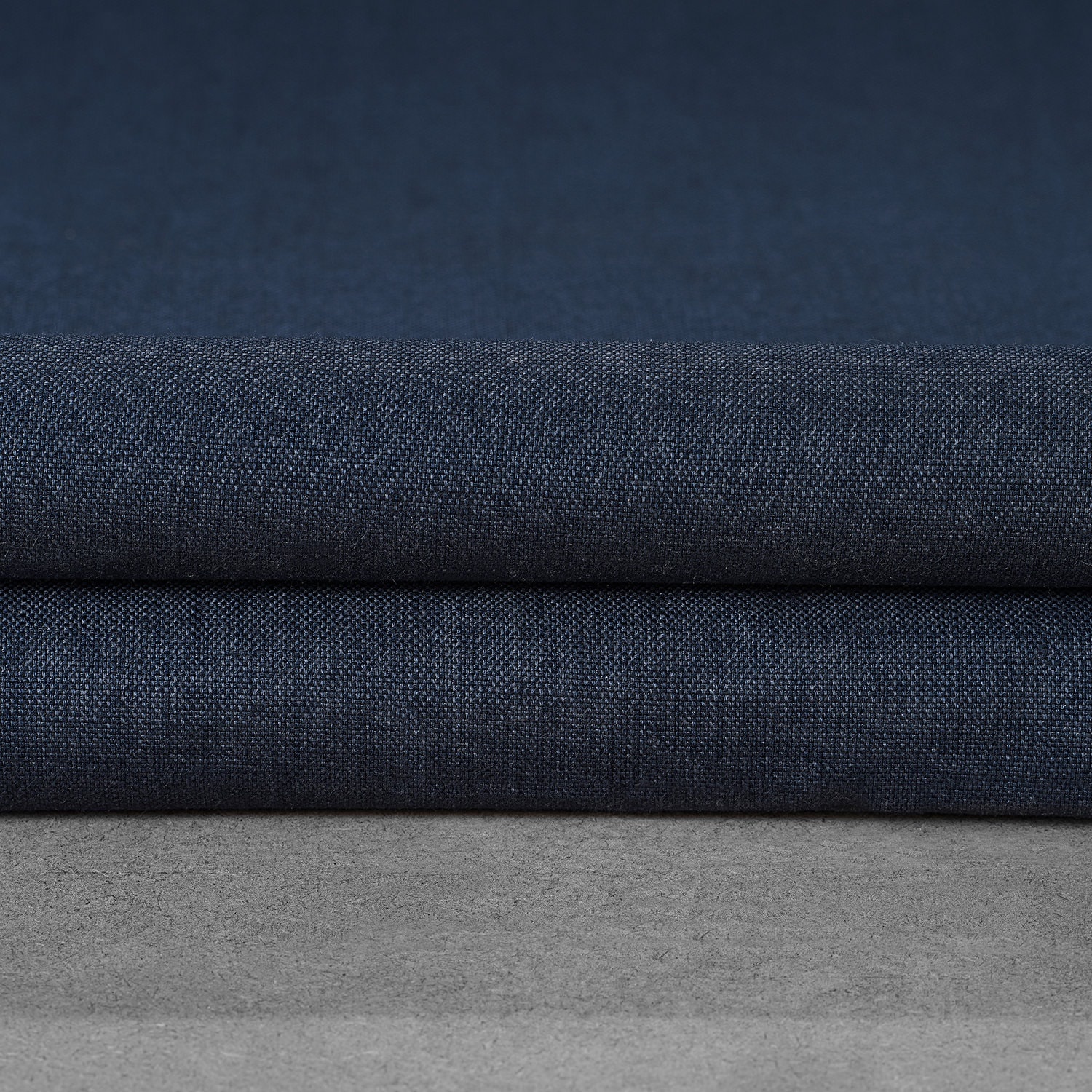 Noble Navy Dune Textured Solid Cotton Swatch