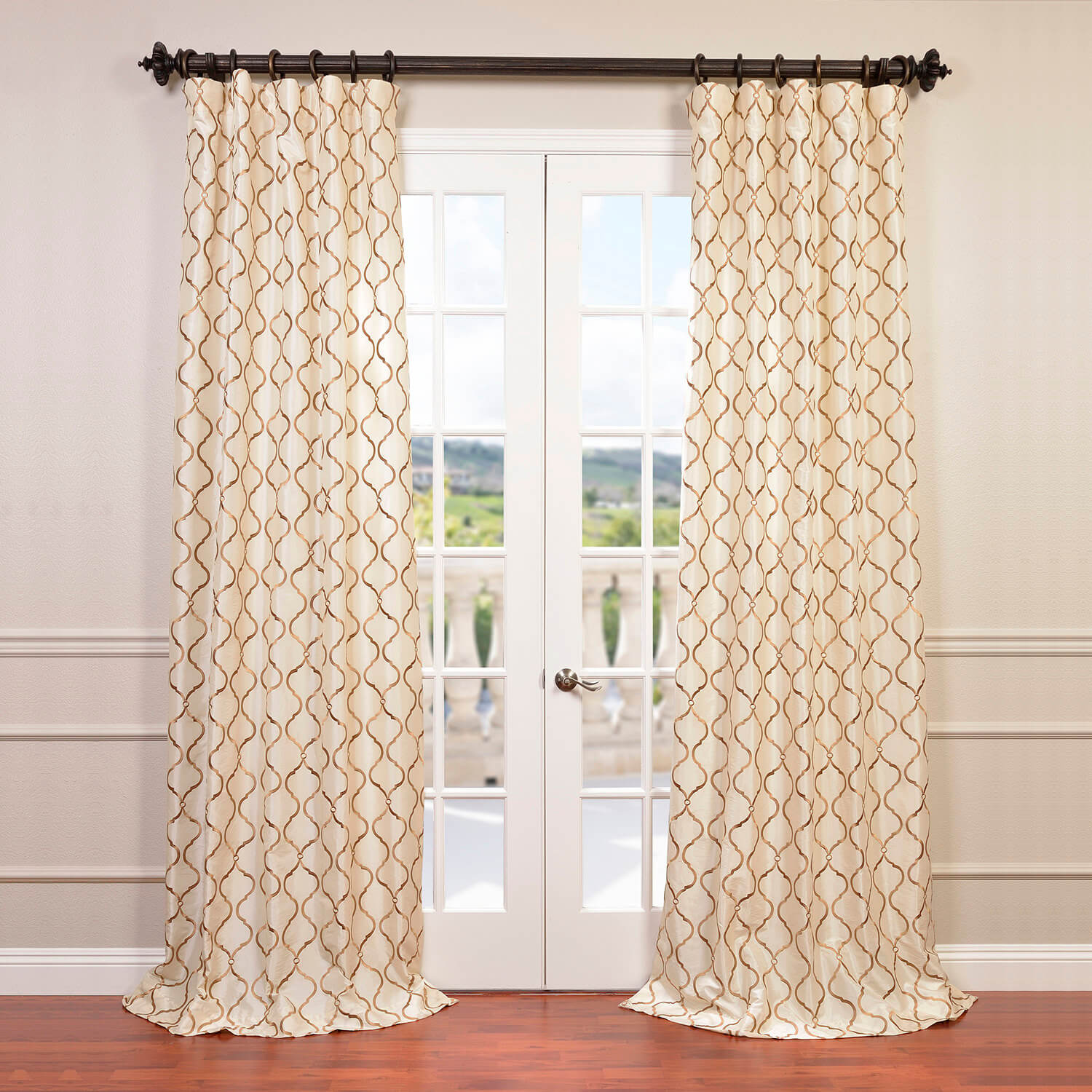 better walmart gardens homes polka dots and ivory curtains panel gold com curtain ip