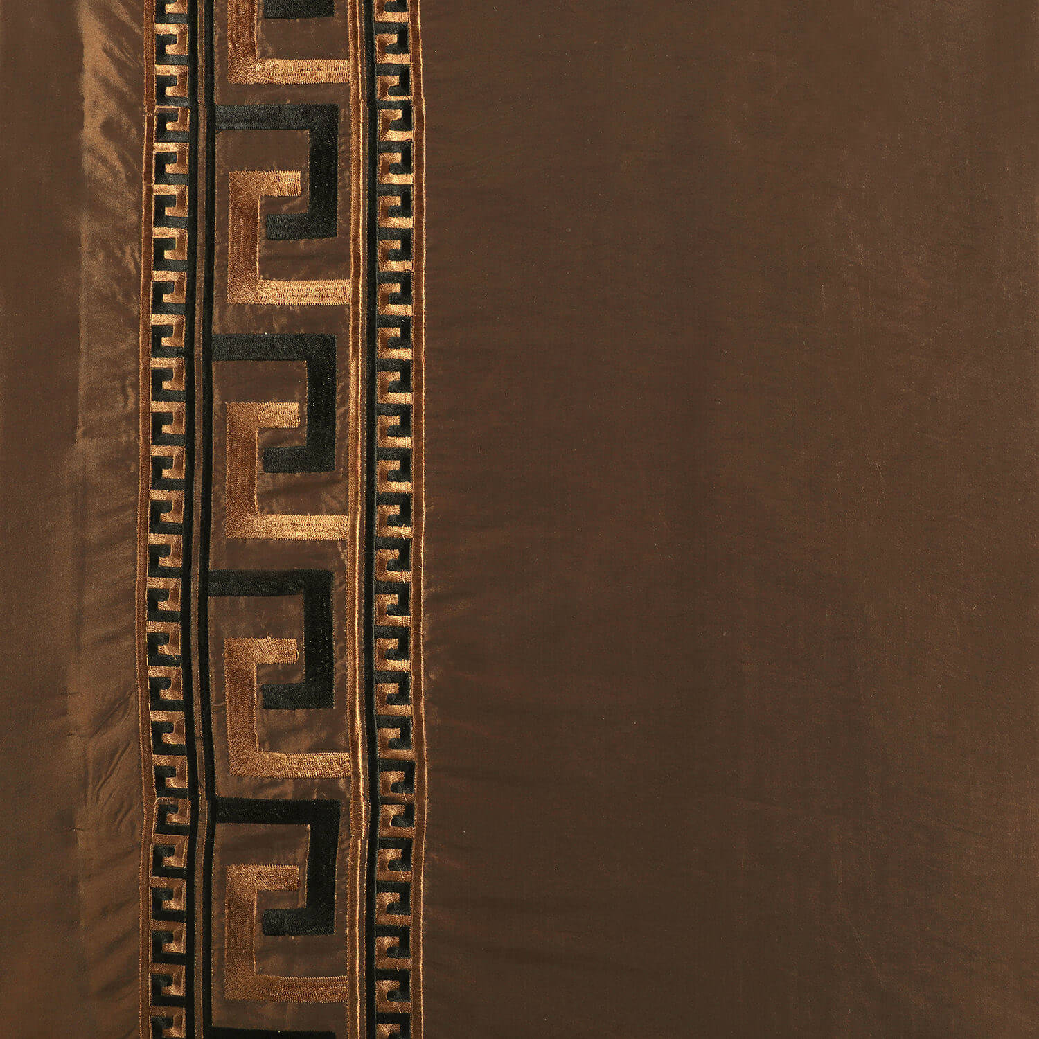 Greco Copper Brown Designer Embroidered Swatch