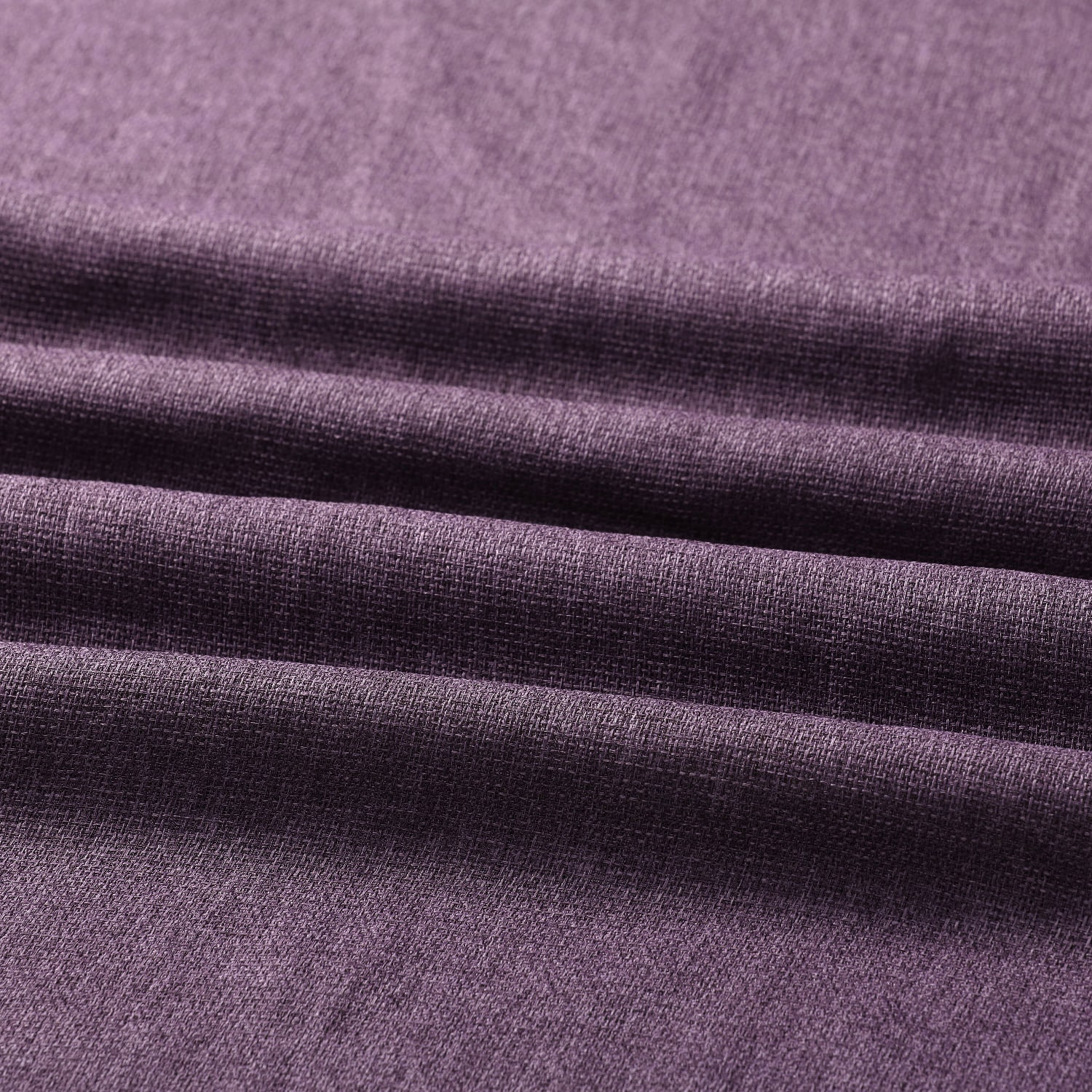 Stormy Purple Faux Linen Sheer Swatch