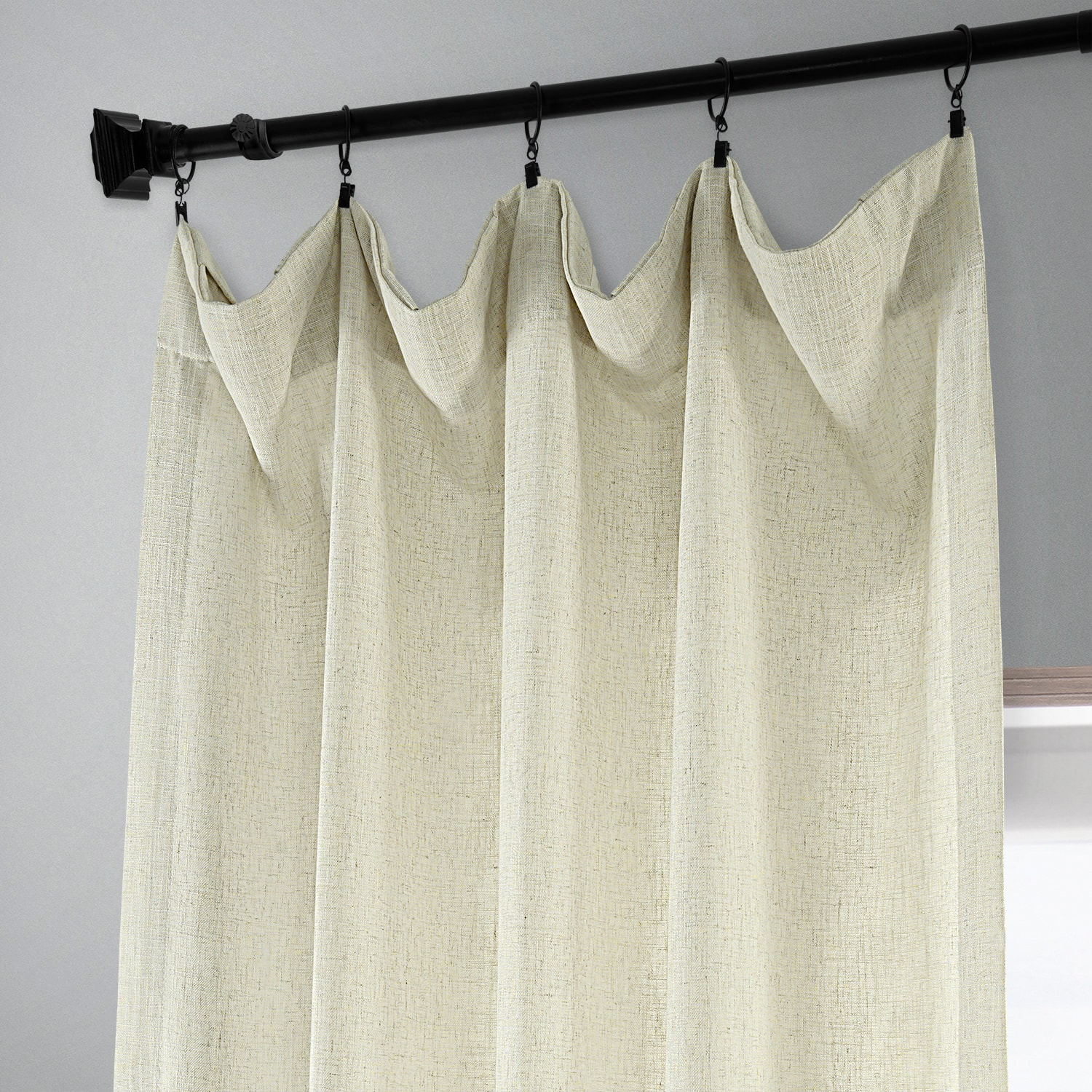 Barley Heavy Faux Linen Curtain