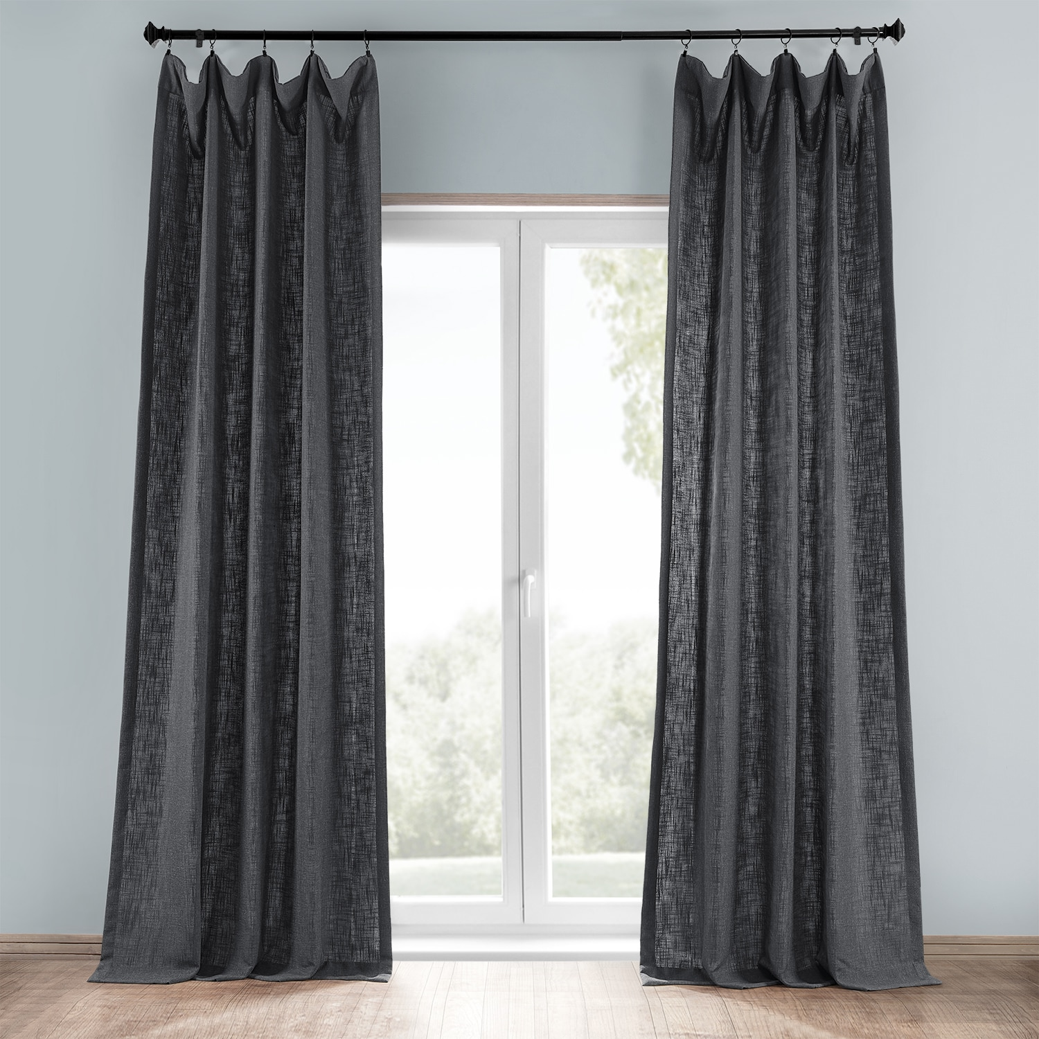 curtains cancun slate eyelet curtain